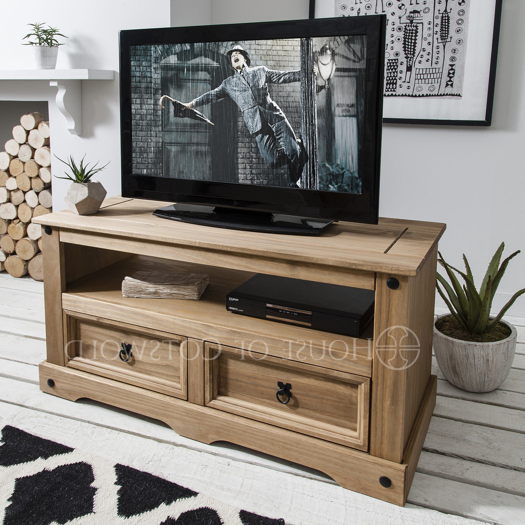 Rustic Pine Tv Cabinets Throughout 2017 Home Design & Gardening: Absorbing Rustic Pine Tv Stand Like Wooden (Gallery 5 of 20)