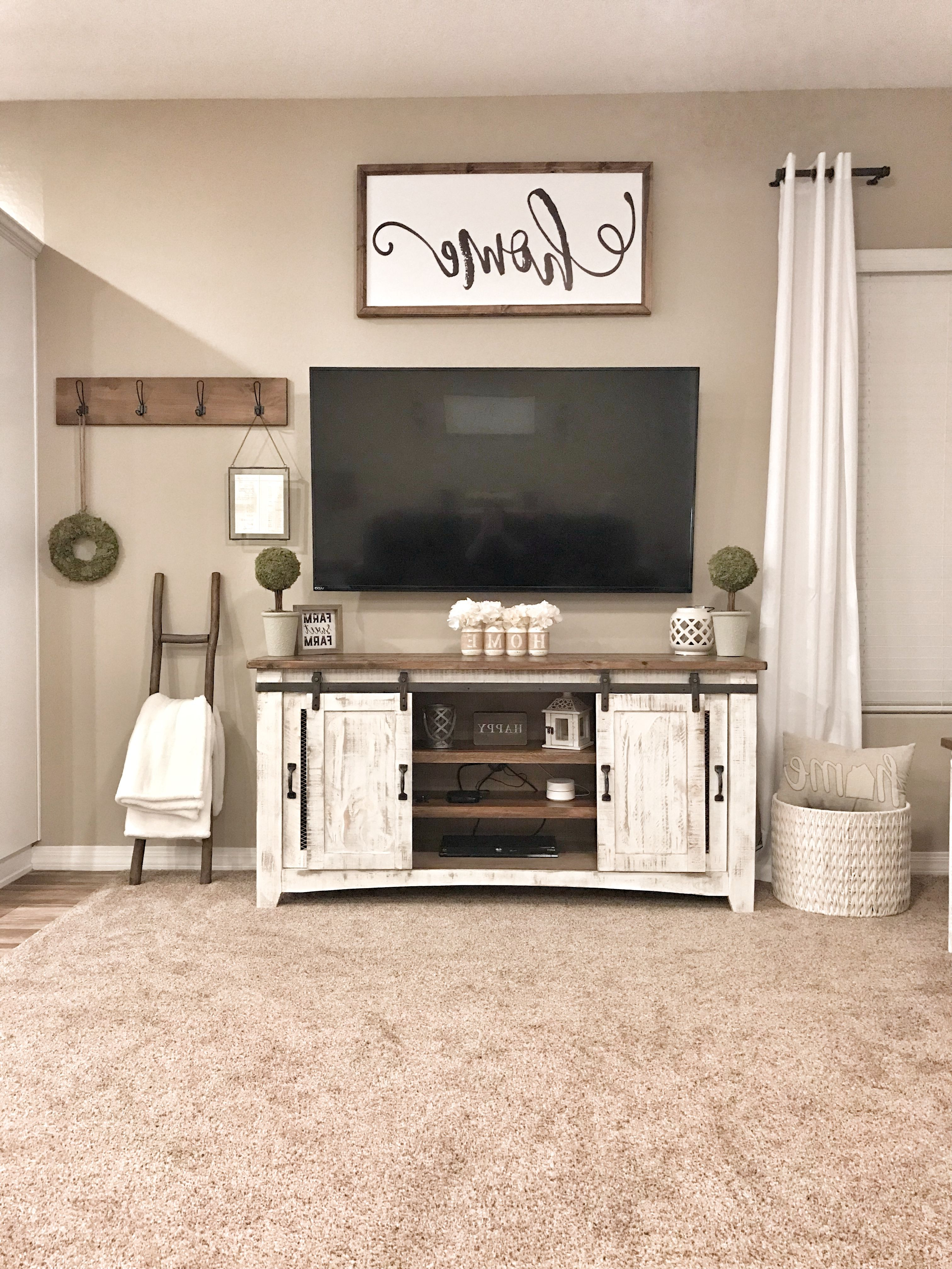 Rustic Tv Stands For Flat Screens Stand Walmart Farmhouse 70 Inch Inside Preferred Country Style Tv Stands (View 15 of 20)