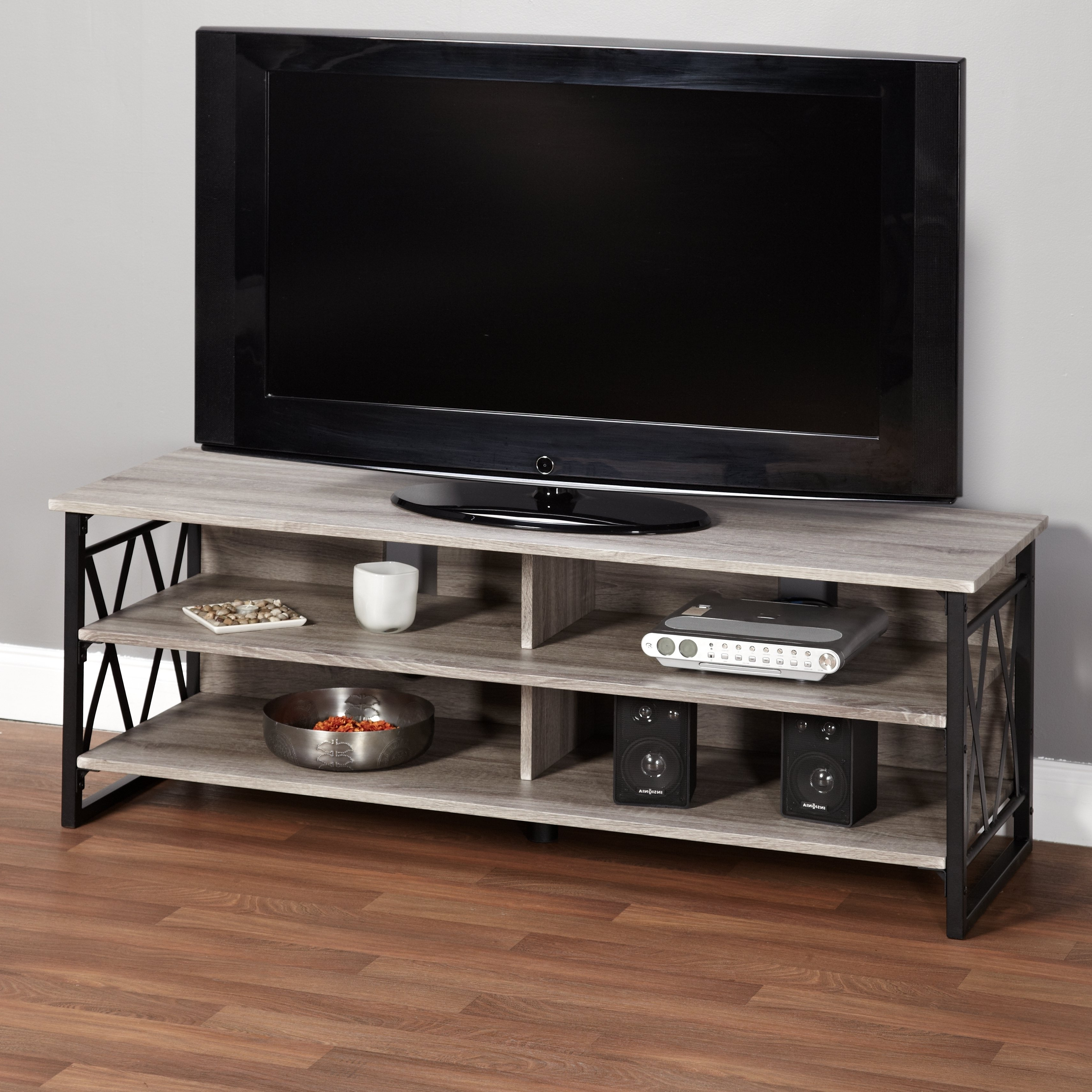 Rustic Tv Stands For Most Recently Released Shop Simple Living Seneca Xx 60 Inch Black/ Grey Rustic Tv Stand (View 18 of 20)