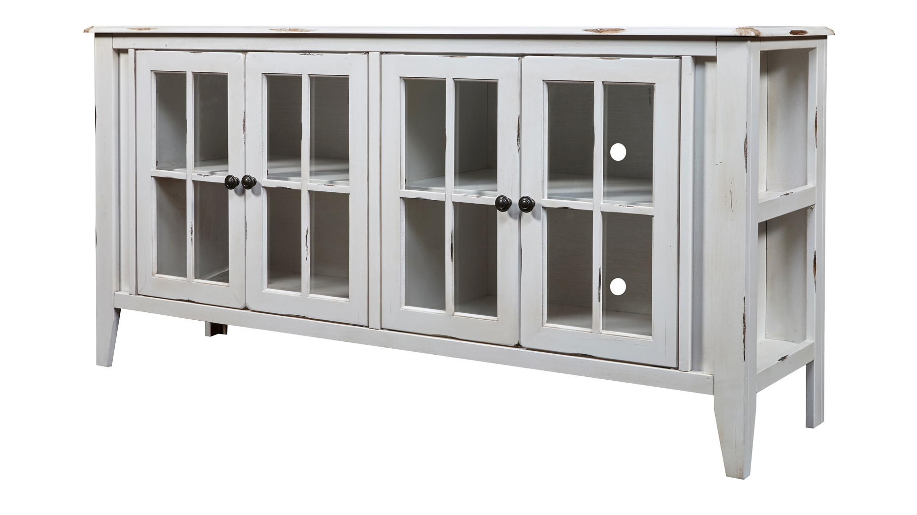 "Rustic White Tv Stands Inside Most Popular Calistoga Rustic White 64"" Tv Stand (View 17 of 20)"