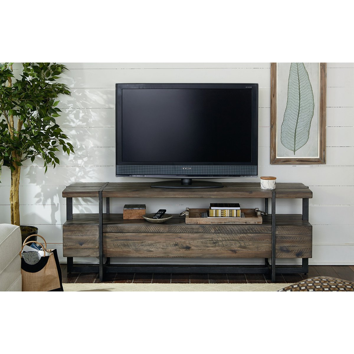 Rustic Wood Tv Cabinets Pertaining To Latest 66 Inch Rustic Brown Tv Stand – Modern Timber (View 13 of 20)