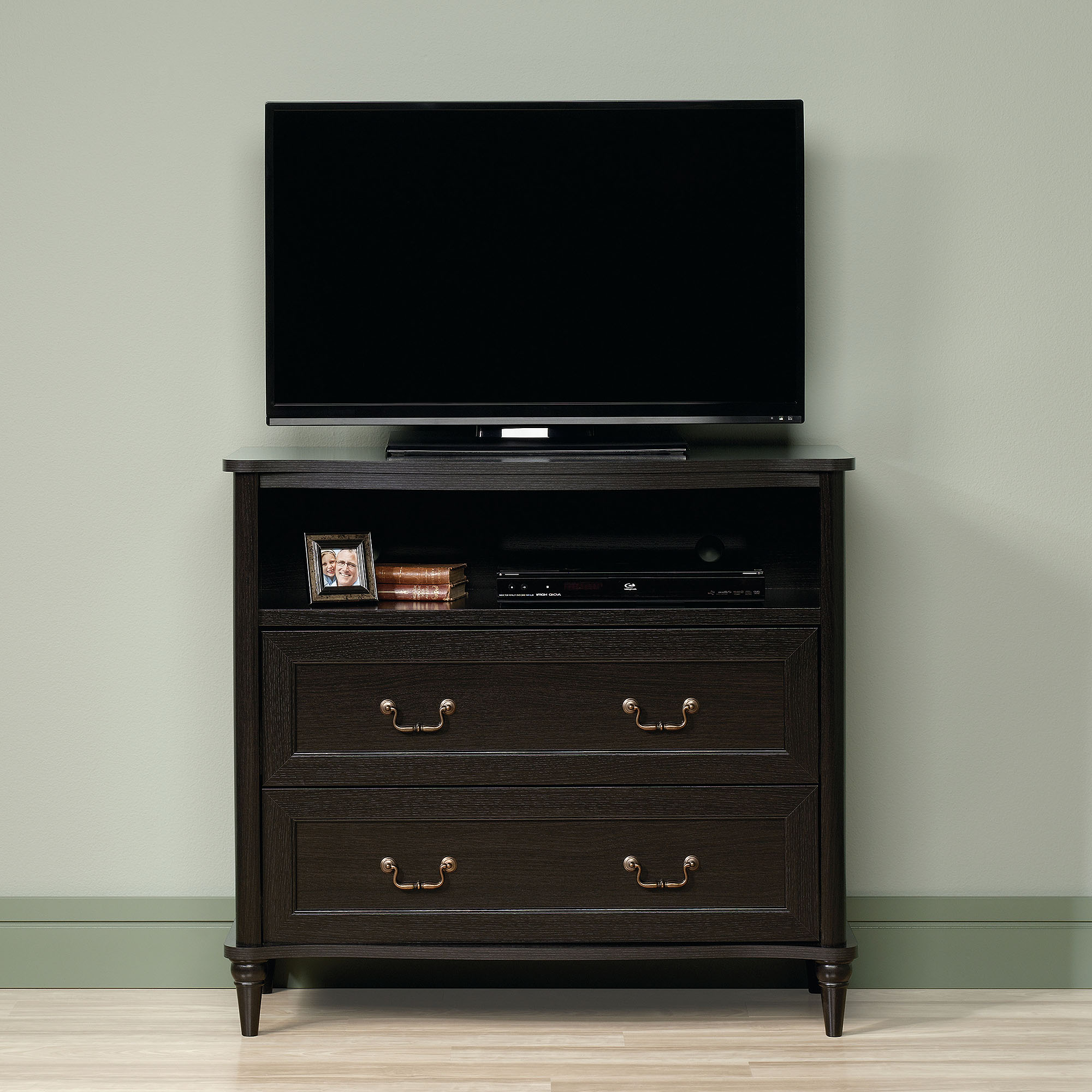 Sauder Wakefield Wind Oak Highboy Tv Stand For Tvs Up To 42 Throughout Latest Tv Stands 40 Inches Wide (Gallery 12 of 20)