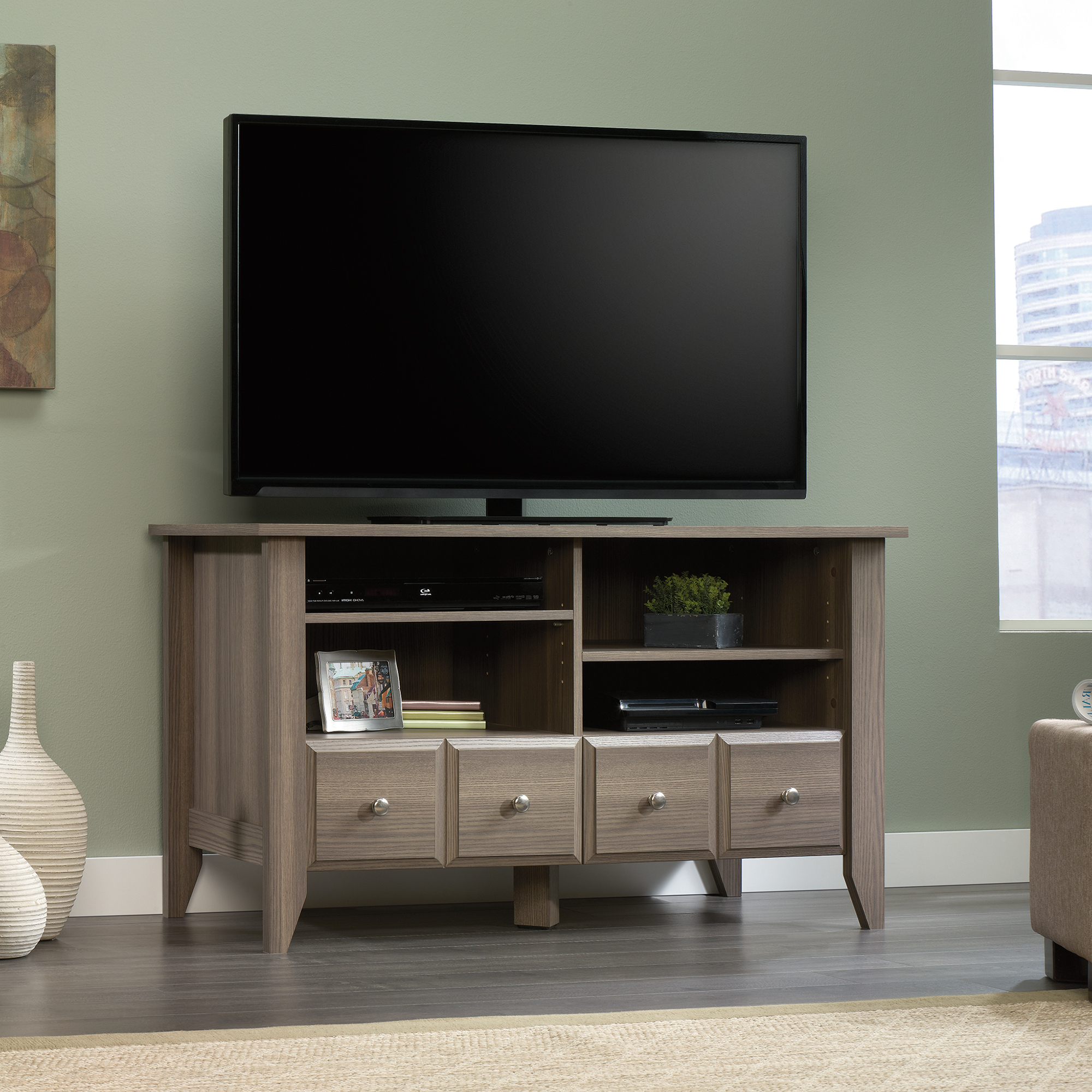 Sauder Within Tv Cabinets With Storage (View 14 of 20)