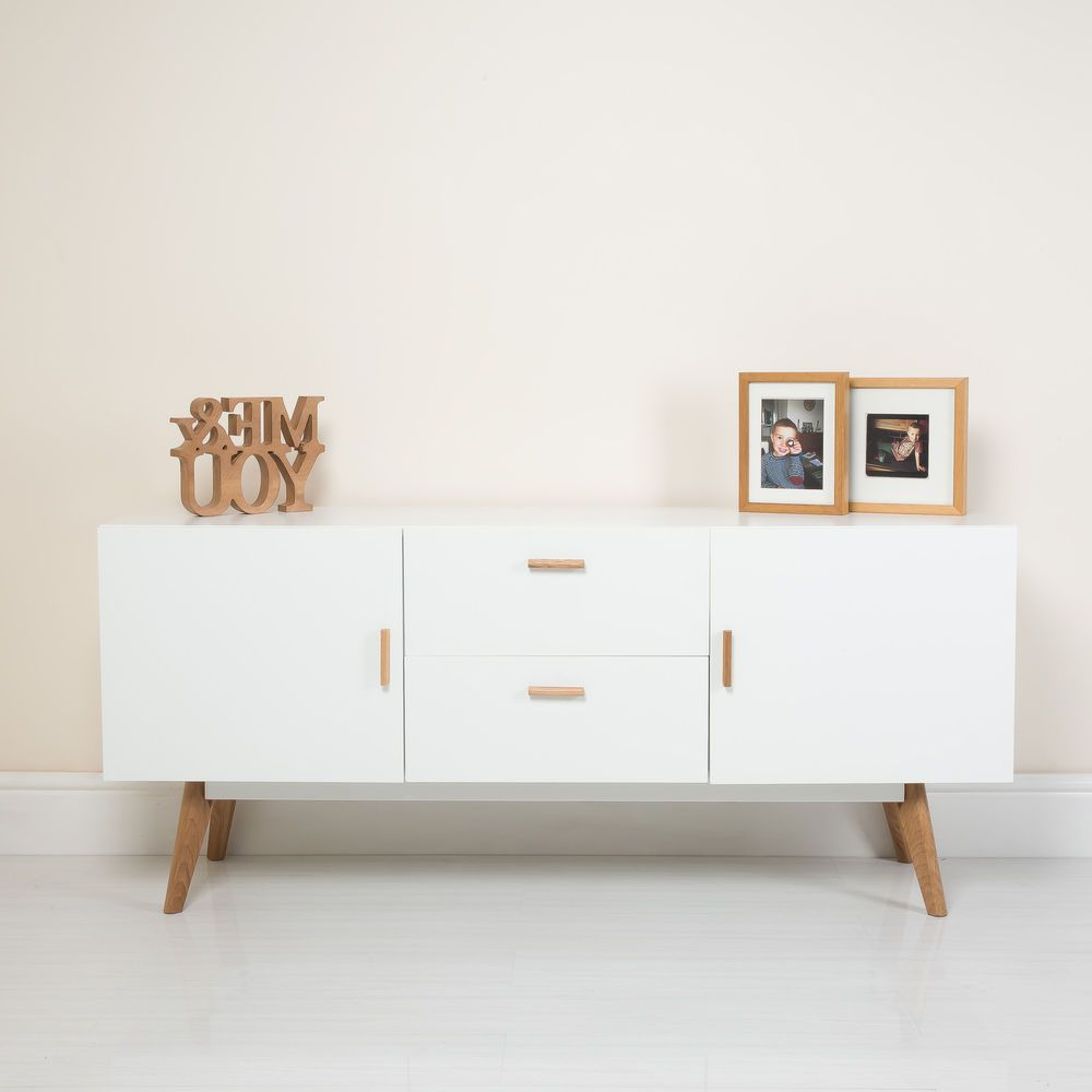 Scandinavian Design Tv Cabinets Regarding Favorite New White Scandinavian Retro Furniture Tv Unit Cabinet Sideboard (View 16 of 20)