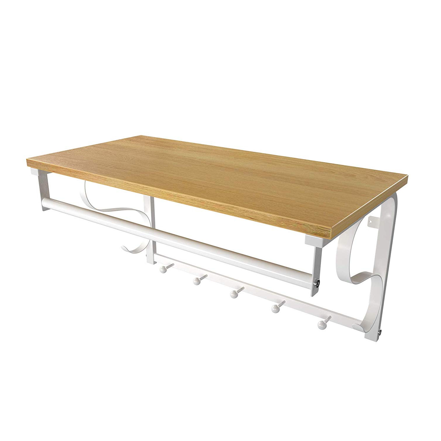 Scattered Geo Console Tables Within Most Popular Vasagle Coat Rack Hook, Wall Mounted With Storage Shelf, Wall Shelf (Gallery 3 of 20)