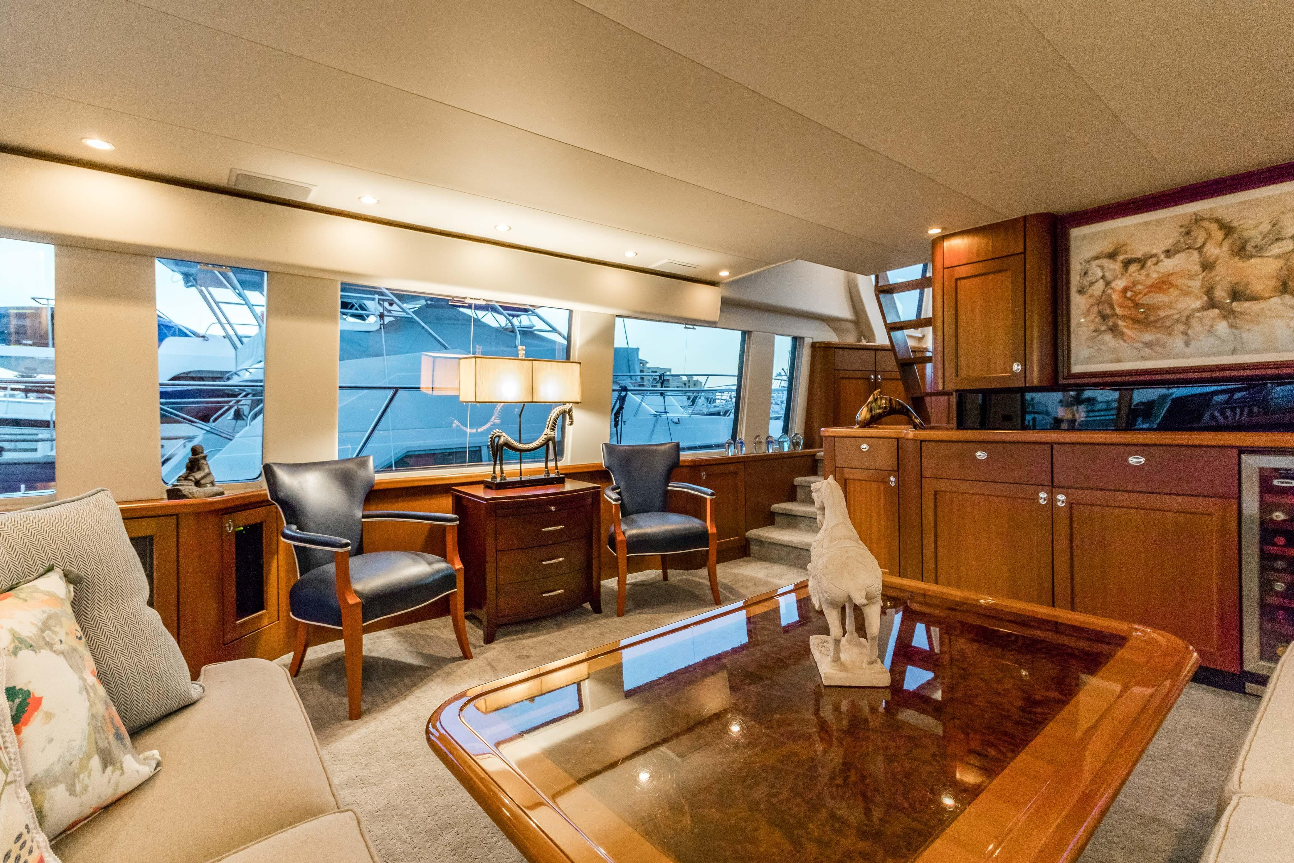 Searenity Pacific Mariner 2003 65 Motoryacht 65 Yacht For Sale In Us Intended For Newest Mikelson Media Console Tables (View 19 of 20)