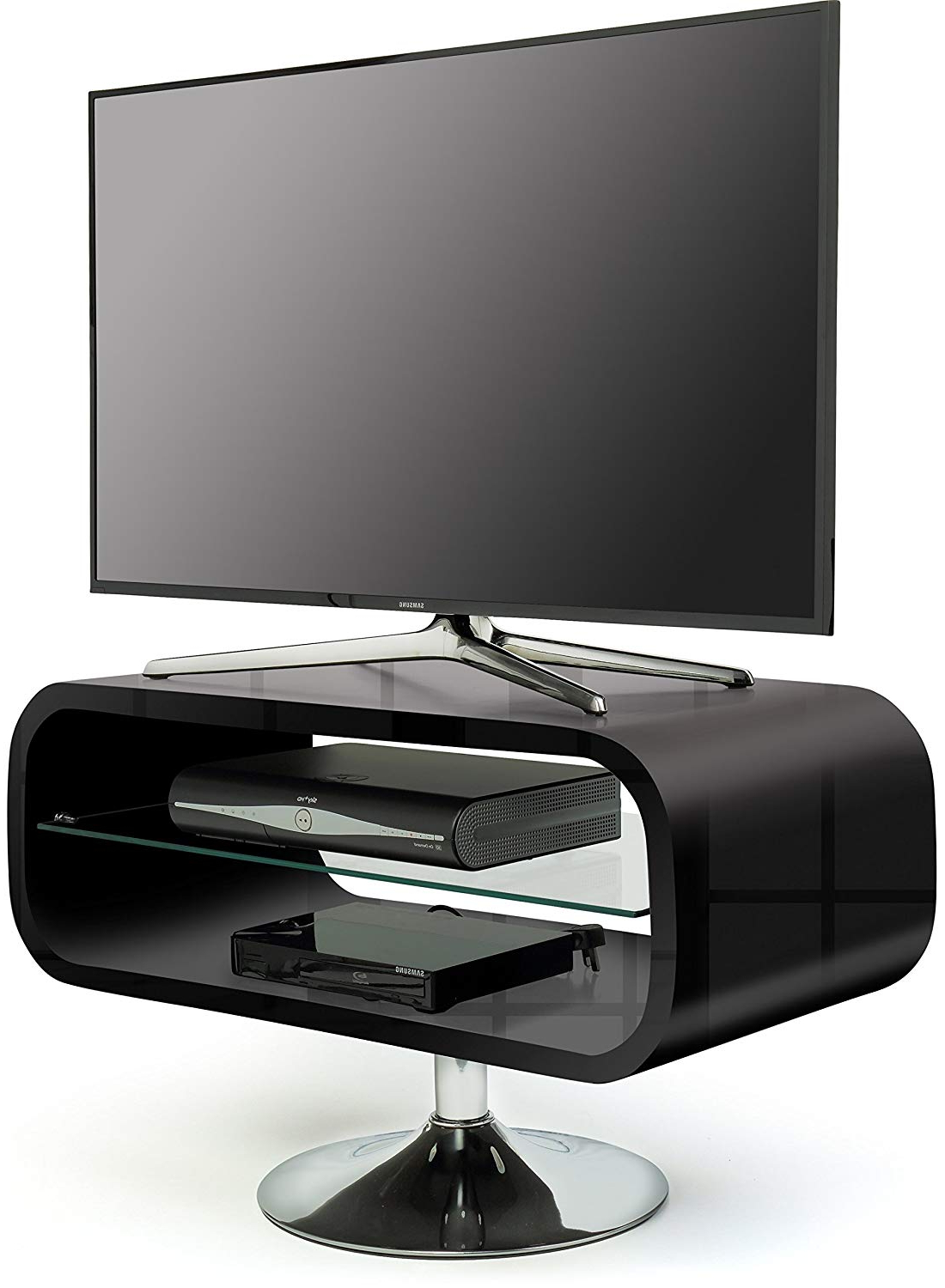"""Shiny Black Tv Stands In Recent Centurion Opod 19"""" 40"""" Lcd/led/ Oled: Amazon.co (View 19 of 20)"""
