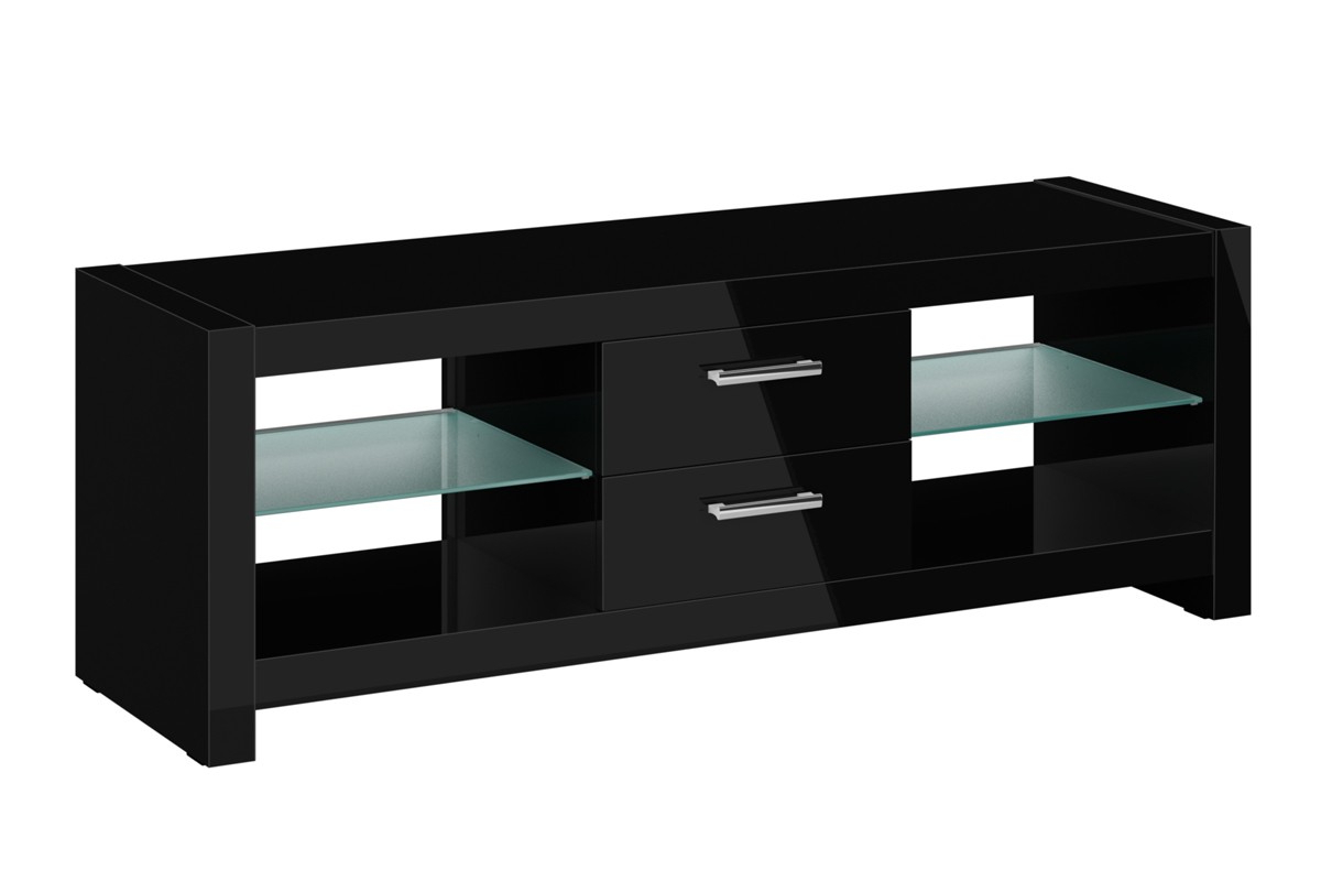 Shiny Black Tv Stands Pertaining To Popular Pandora High Gloss Black Tv Stand 152Cm (Gallery 9 of 20)
