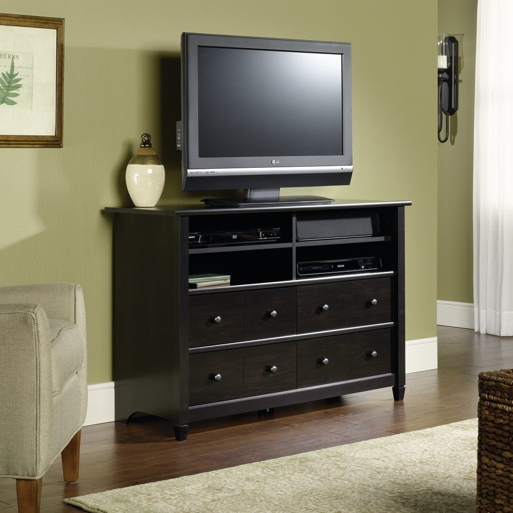Shiny Tv Stands Throughout Most Recently Released Tv Stands. Interesting Dresser As Tv Stand 2017 Design: Dresser As (Gallery 8 of 20)