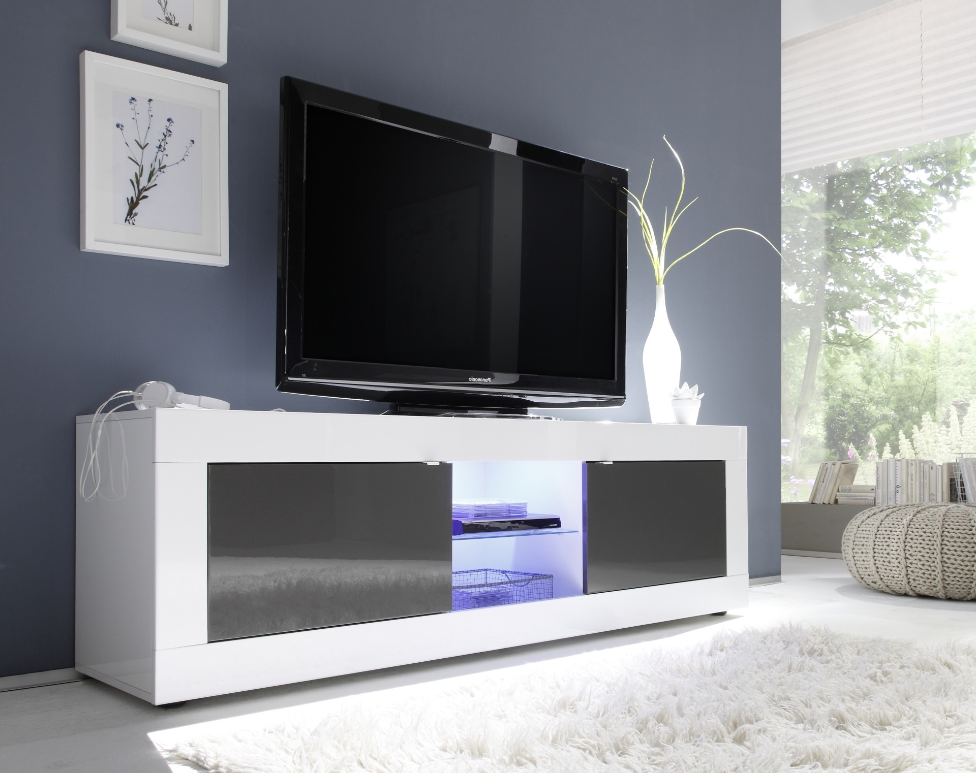 Shiny Tv Stands With Current White Gloss Tv Units (166) – Sena Home Furniture (View 2 of 20)
