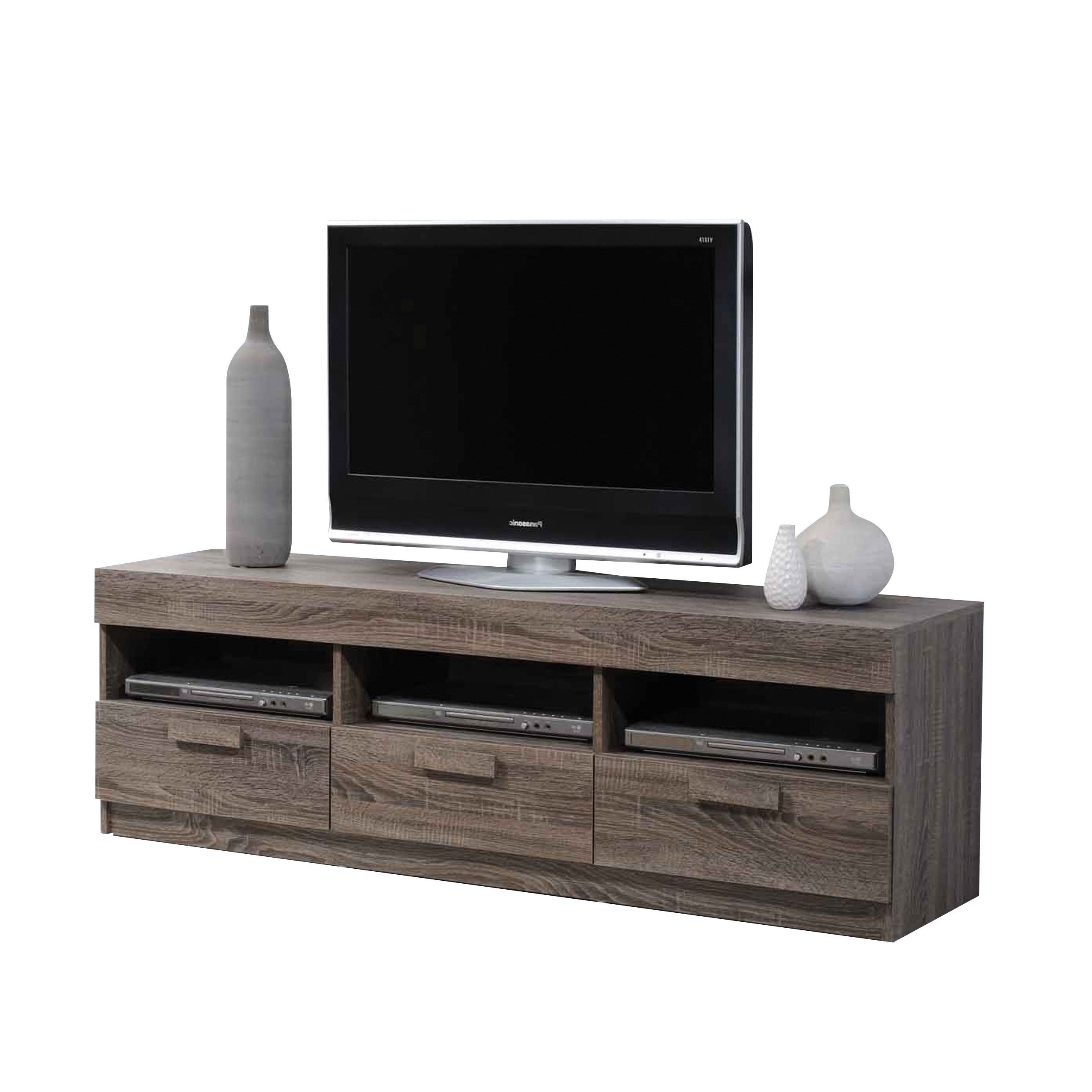 Shop Acme Furniture Alvin Rustic Oak Tv Stand – Free Shipping Today Intended For 2017 Rustic Oak Tv Stands (Gallery 18 of 20)