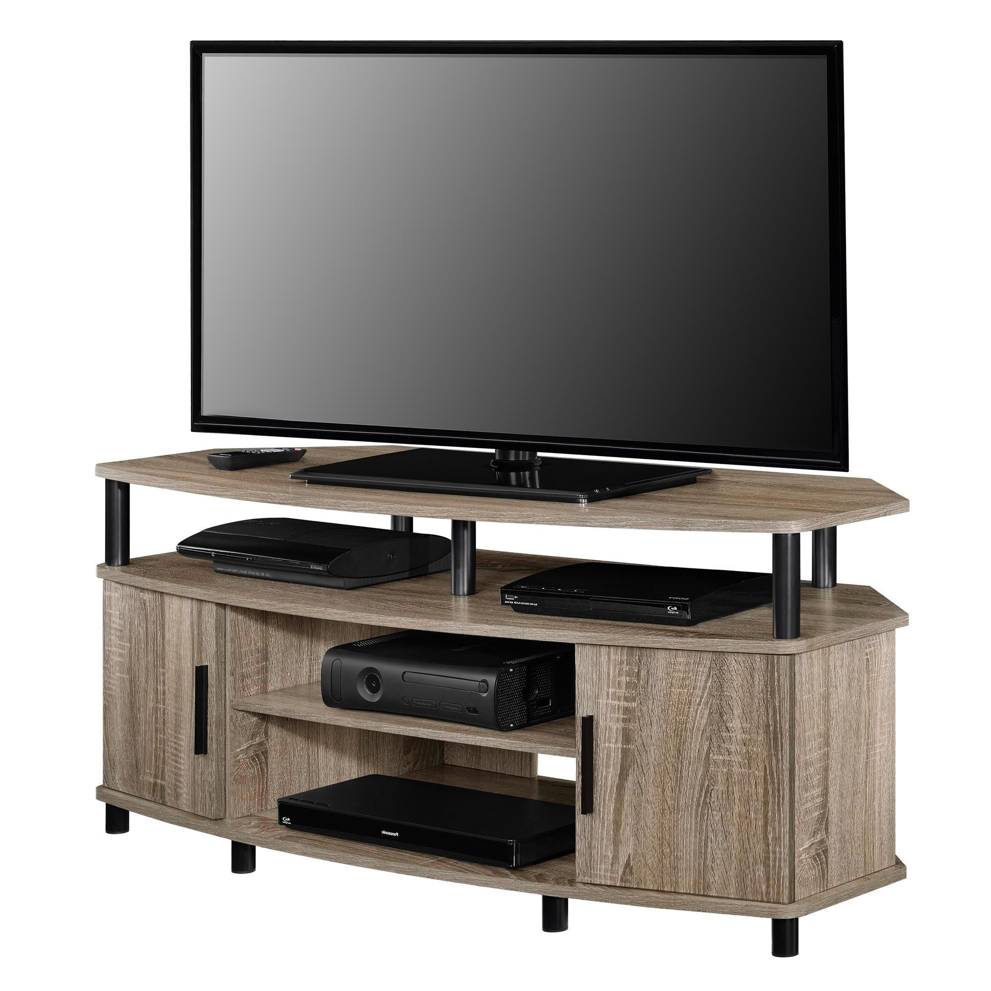 Shop Ameriwood Home Carson 50 Inch Sonoma Oak Corner Tv Stand – Free Throughout Famous Oak Corner Tv Stands (Gallery 10 of 20)