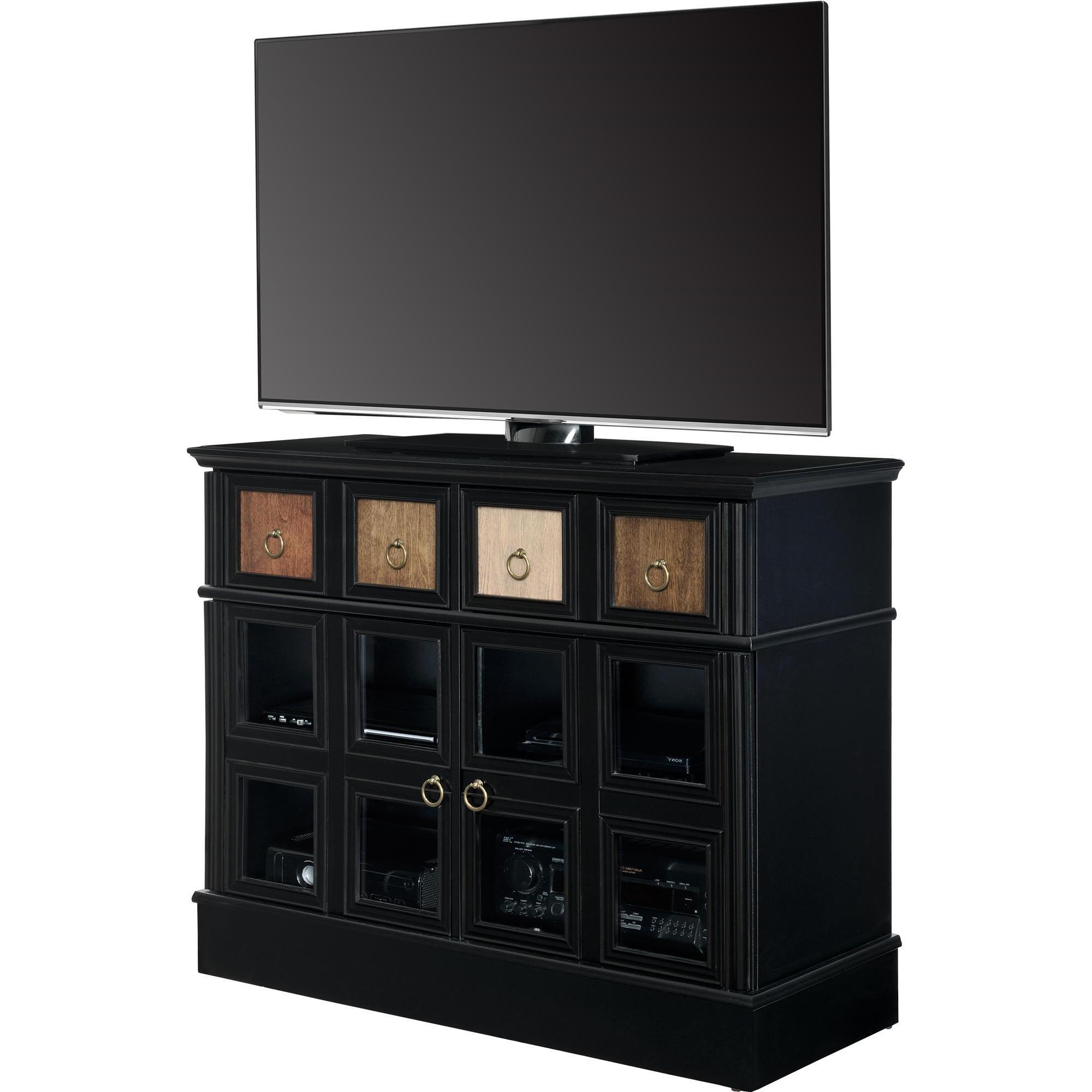 Shop Avenue Greene Wakefield Apothecary 42 Inch Black Tv Console In Famous Wakefield 97 Inch Tv Stands (Gallery 8 of 20)