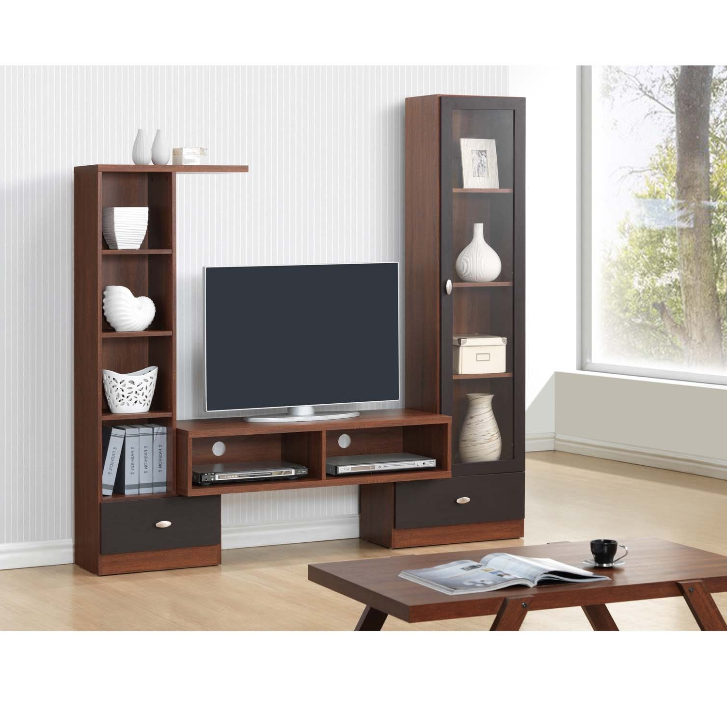 Shop Baxton Studio Empire Sonoma Oak Finishing Modern Tv Stand Inside 2018 Modern Wooden Tv Stands (View 14 of 20)