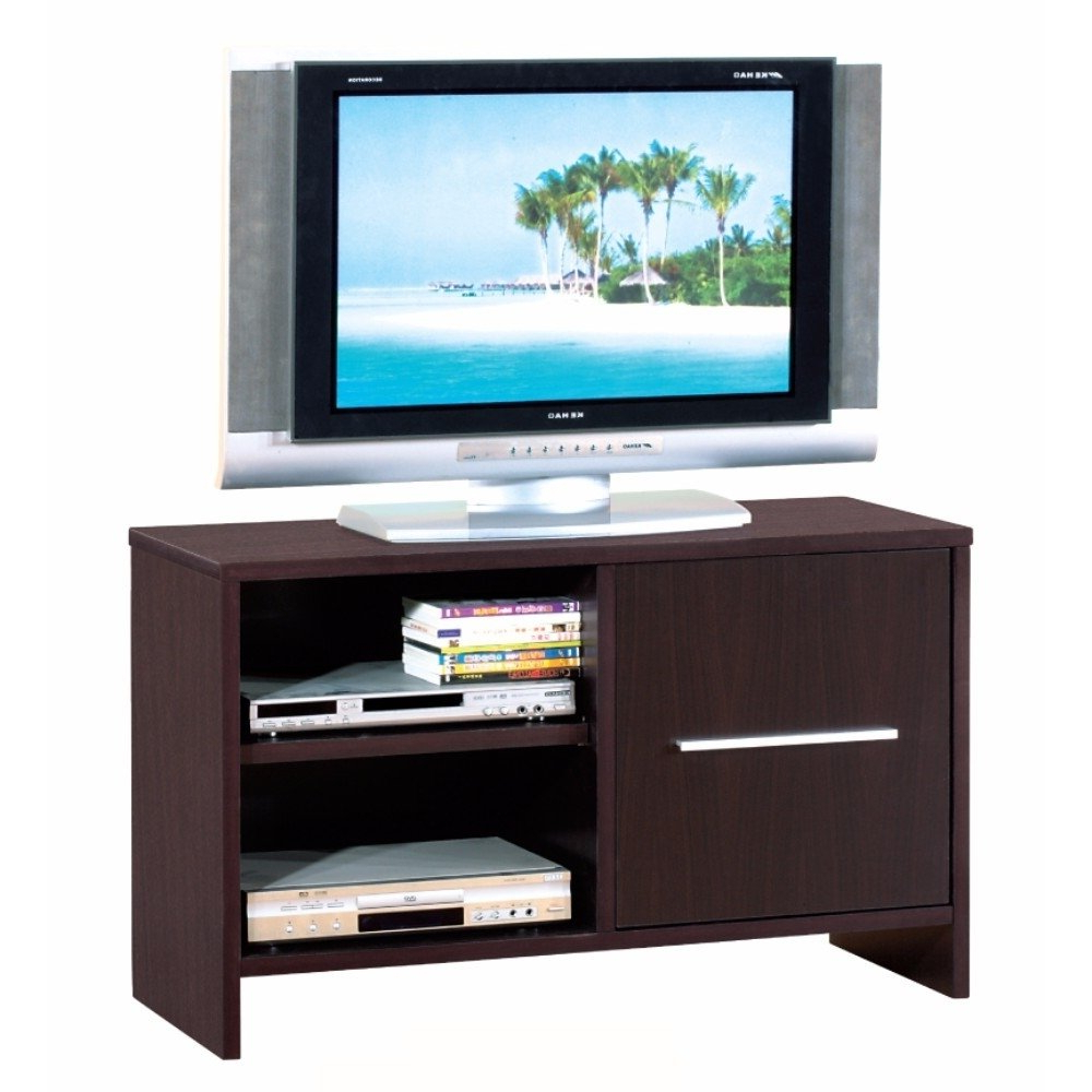 Shop Compact Tv Stand With Open Shelves, Brown – Free Shipping Today Throughout Well Known Open Shelf Tv Stands (Gallery 19 of 20)