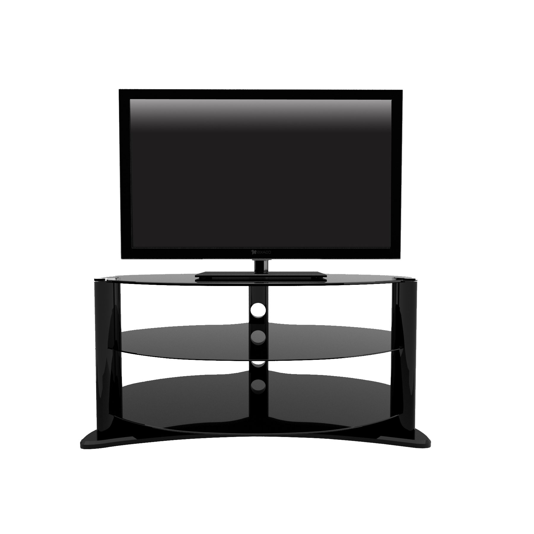 Shop Denver Oval 3 Tier Tv Stand Fits Tvs Up To 37 Inches – Free Within Widely Used Denver Tv Stands (Gallery 9 of 20)