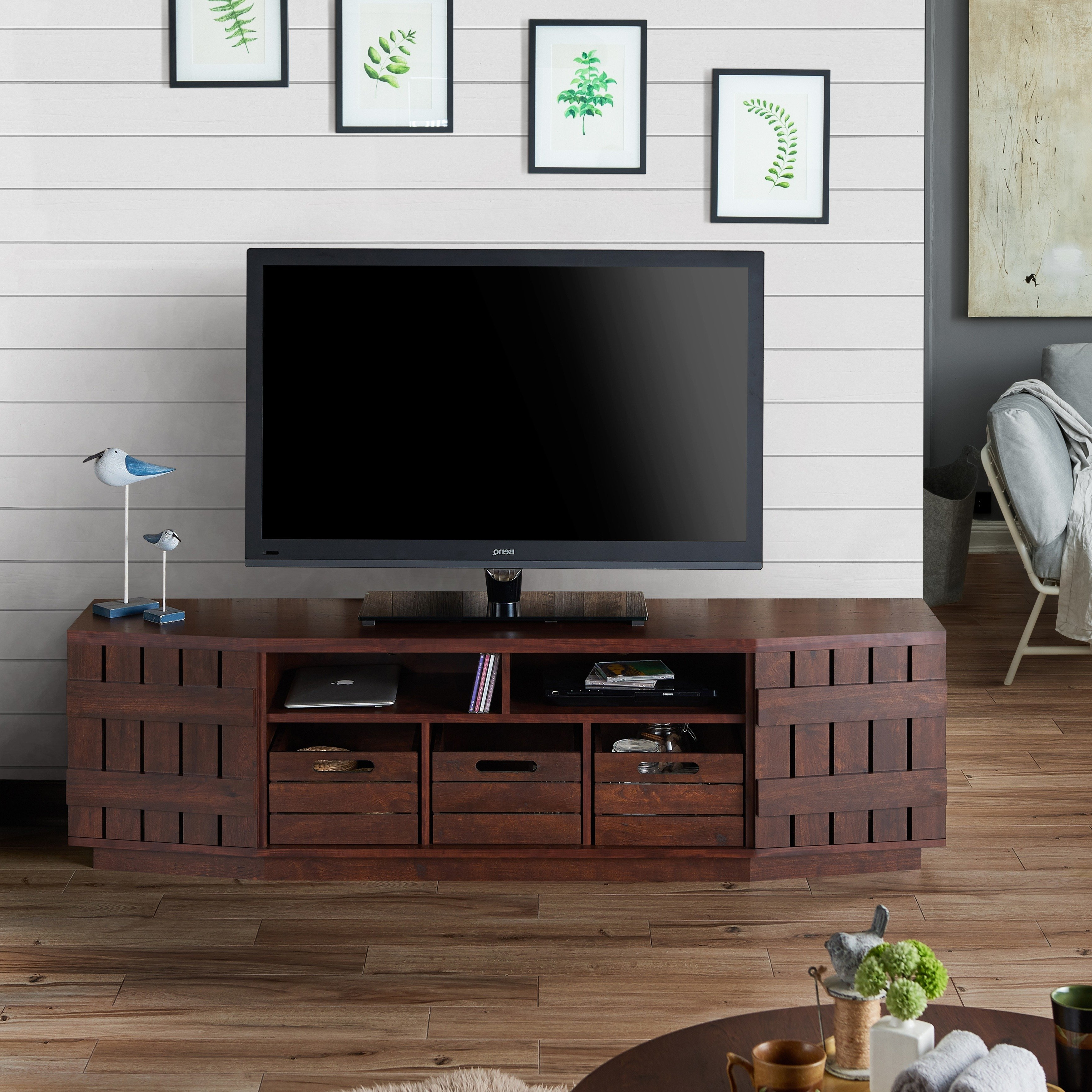 Shop Furniture Of America Harla Rustic 70 Inch Tv Stand With Pertaining To 2018 Casey Grey 54 Inch Tv Stands (Gallery 12 of 20)