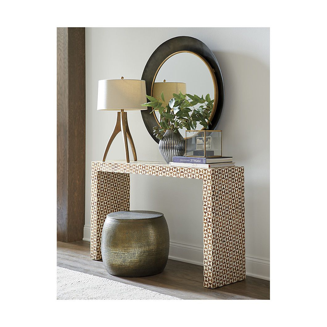 Shop Intarsia Bone Inlay Console Table. The Intarsia Bone Inlay Intended For Well Liked Intarsia Console Tables (Gallery 11 of 20)
