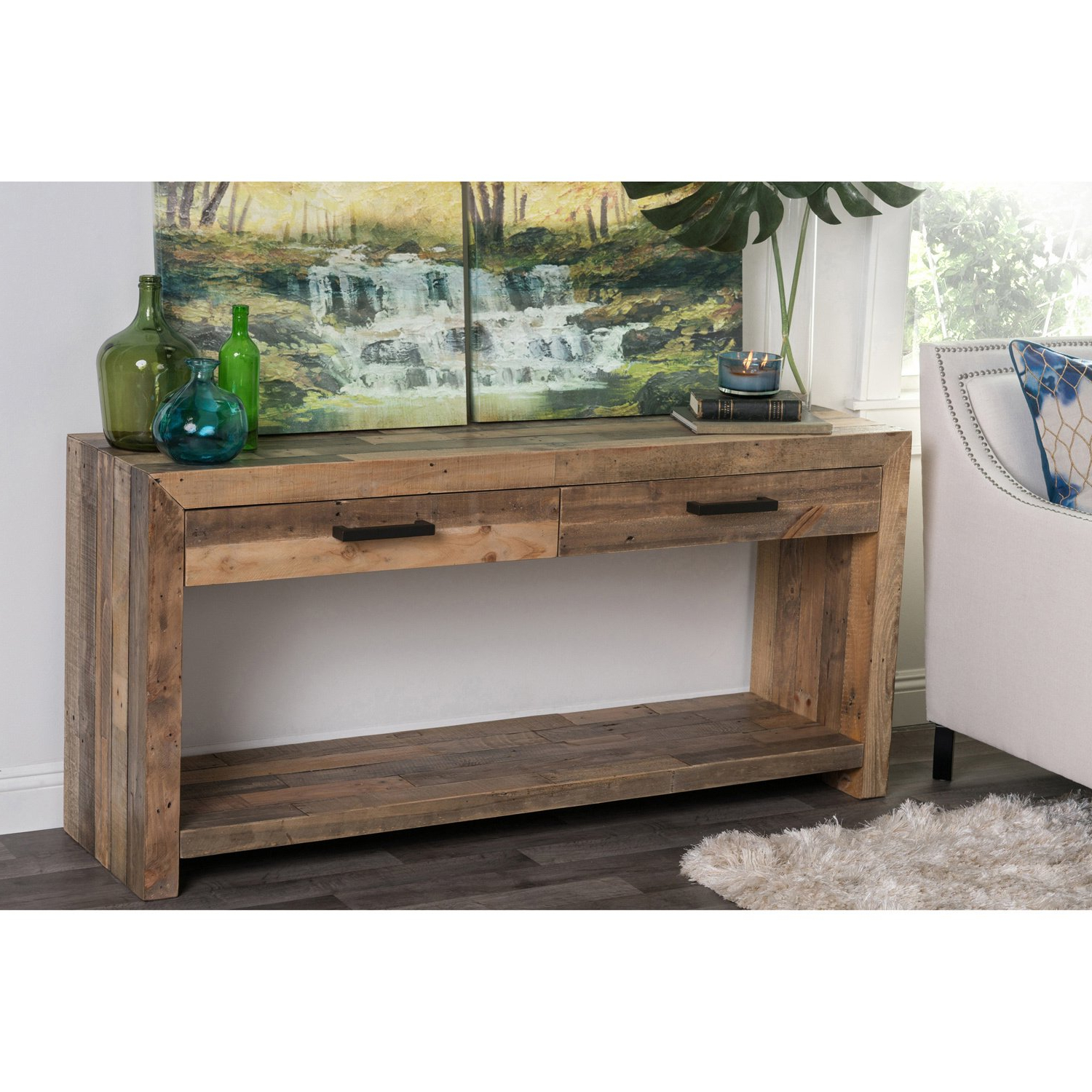 Shop Oscar Grey Reclaimed Wood Console Tablekosas Home – Free For Most Up To Date Oscar 60 Inch Console Tables (Gallery 3 of 20)
