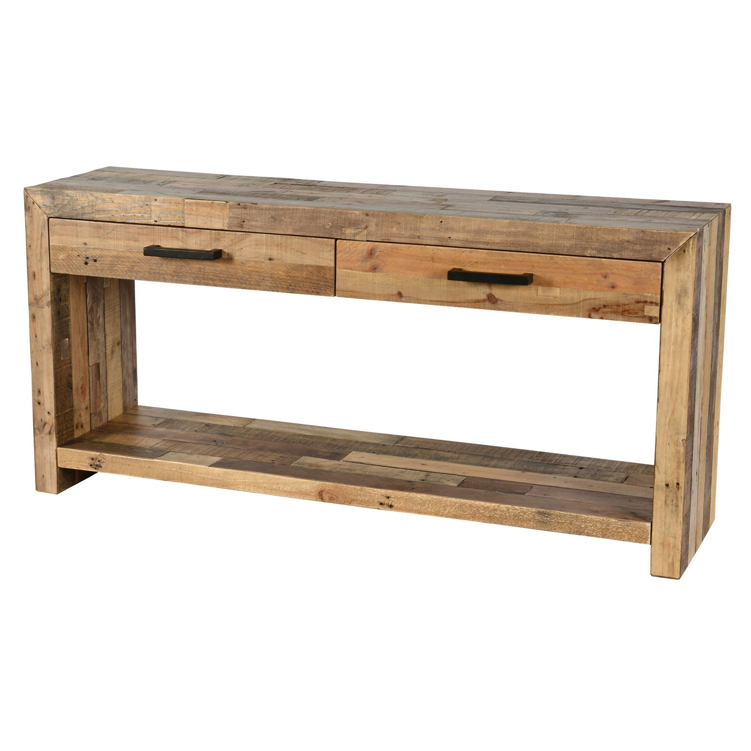Shop Oscar Grey Reclaimed Wood Console Tablekosas Home – Free Intended For Current Oscar 60 Inch Console Tables (Gallery 2 of 20)