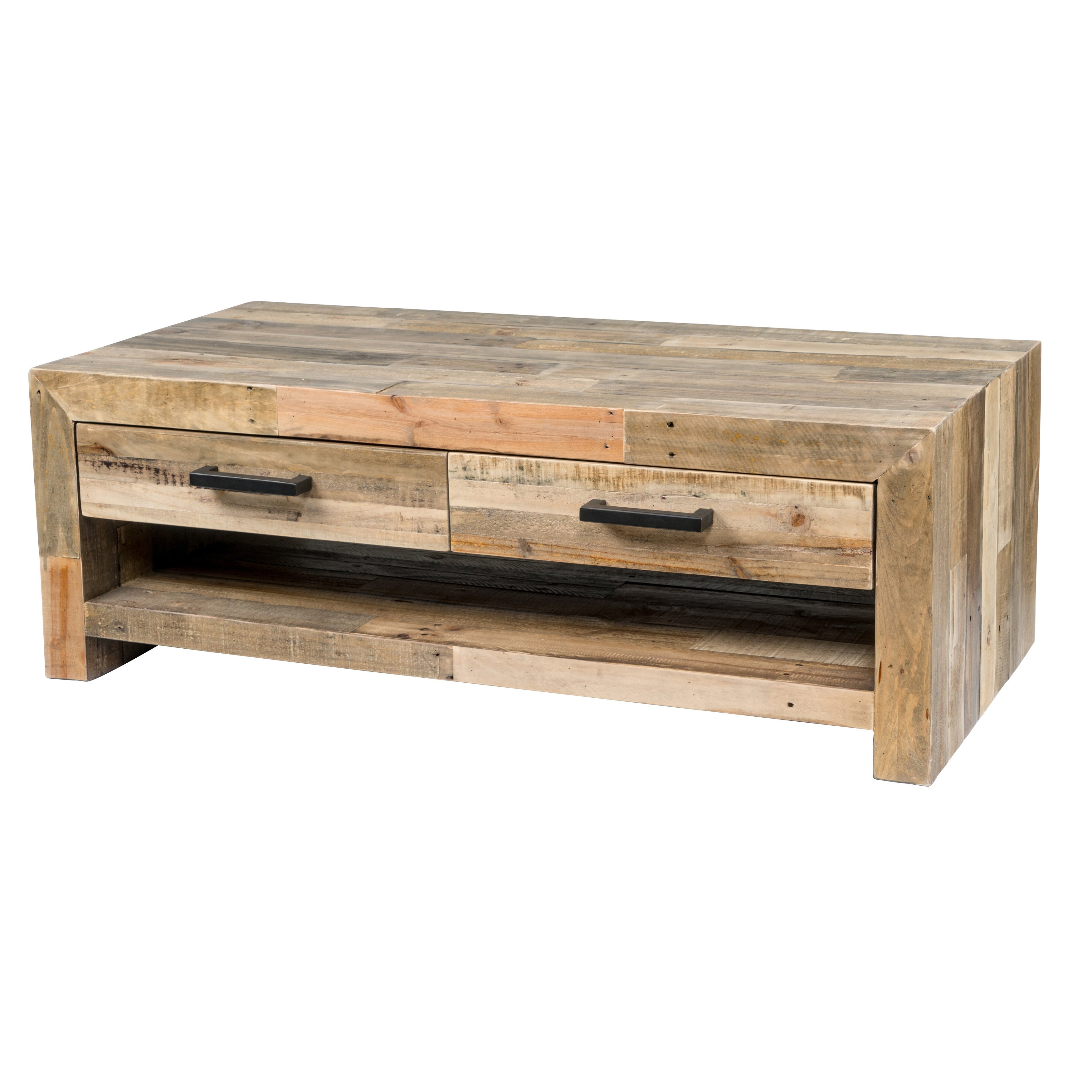 Shop Oscar Reclaimed Wood Coffee Tablekosas Home – Free Shipping Throughout Fashionable Oscar 60 Inch Console Tables (View 4 of 20)