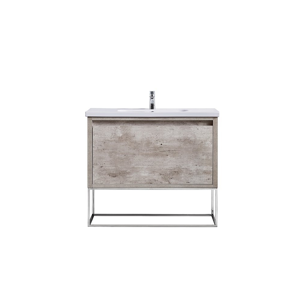 Shop Ove Decors Ava Modern Burnt Oak 40 Inch Vanity With Integrated Pertaining To Famous Burnt Oak Metal Sideboards (View 18 of 20)