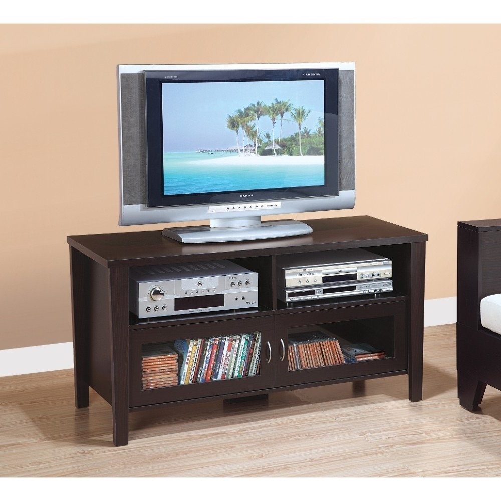 Shop Stylish Tv Stand With Flared Legs, Brown – Free Shipping Today Within Widely Used Stylish Tv Stands (View 10 of 20)