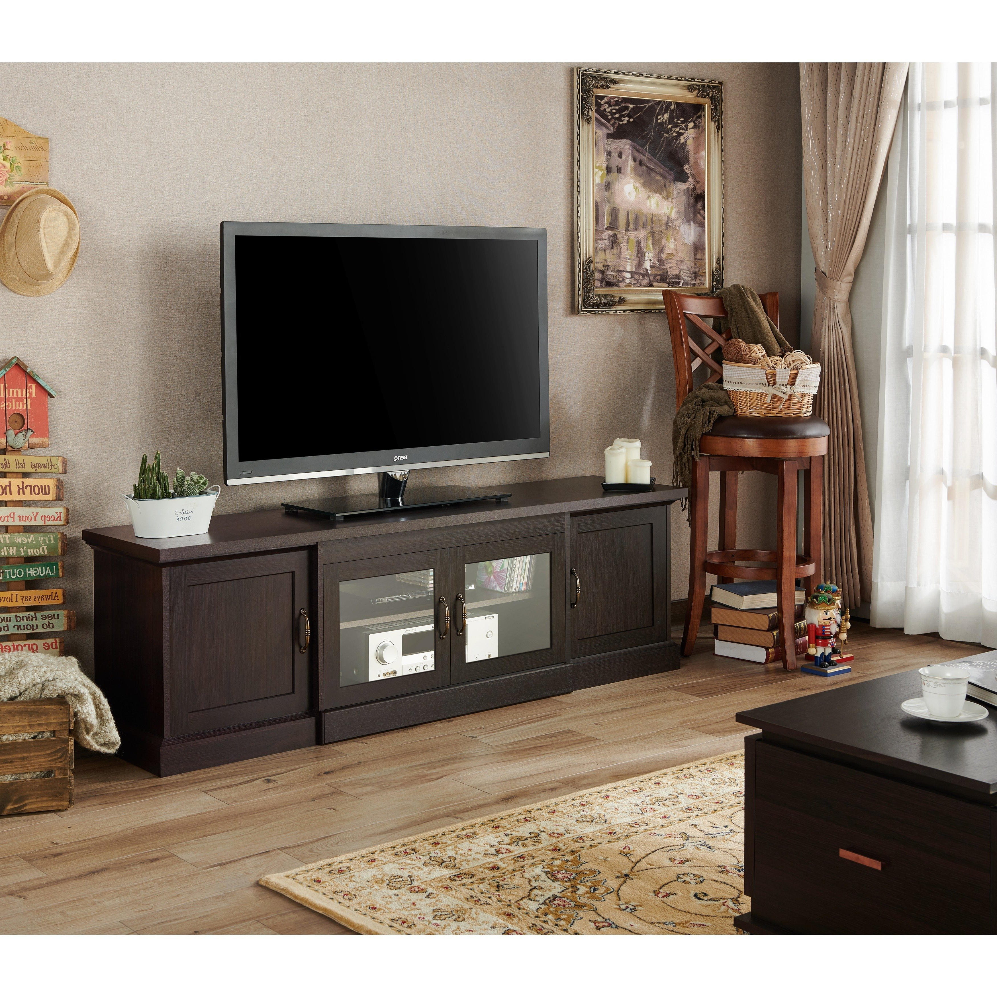 Shop Walder Rustic 68 Inch Tv Standfoa – On Sale – Free Shipping Regarding 2018 Casey Umber 74 Inch Tv Stands (Gallery 15 of 20)