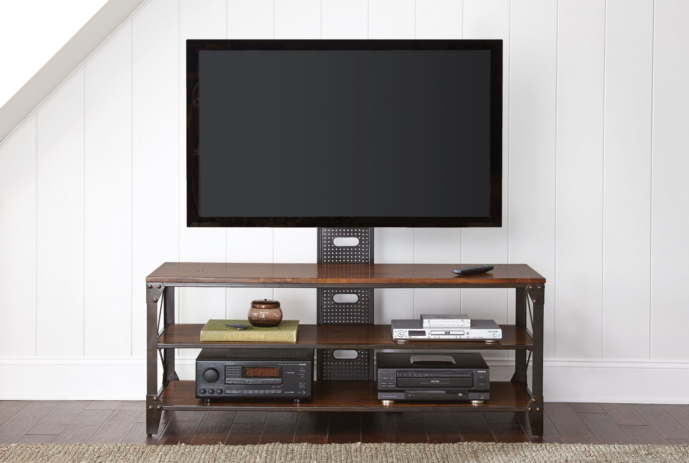 Silver Tv Stands With Well Known Winston Industrial Tv Stand From Steve Silver (Wn500Tv) (View 18 of 20)