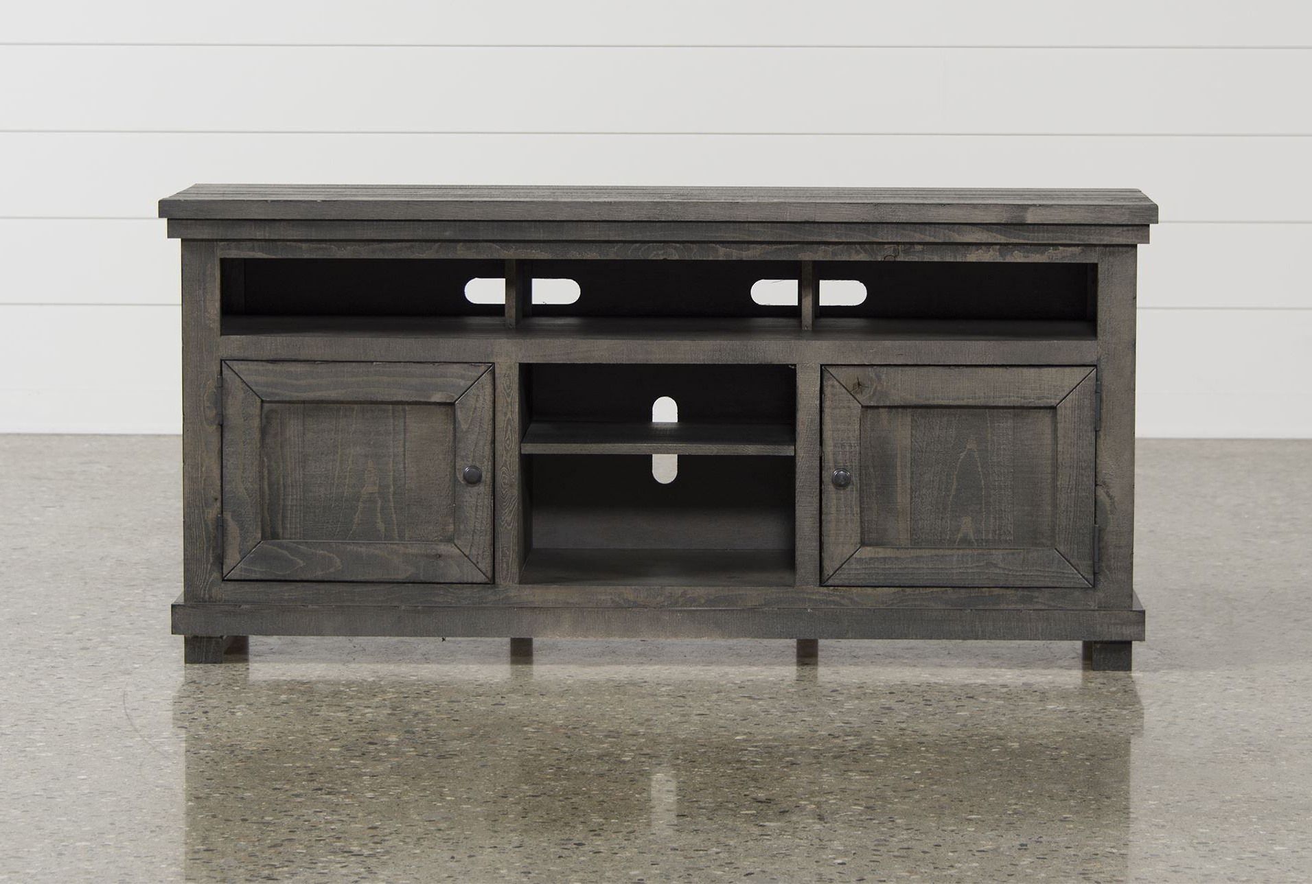 Sinclair Blue 74 Inch Tv Stands Regarding Most Popular Trendy Canyon 74 Inch Tv Stand Living Spaces Tv Stand (Gallery 5 of 20)