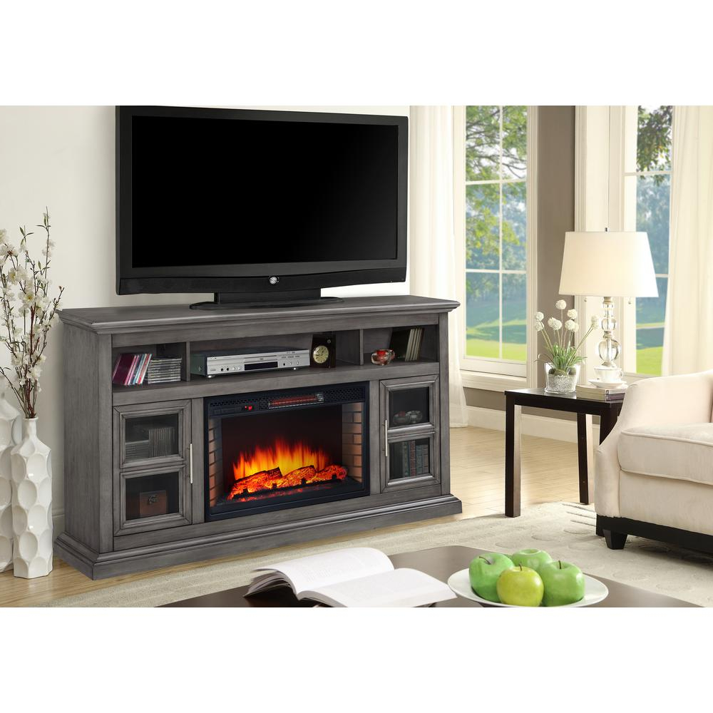 Sinclair Grey 64 Inch Tv Stands Pertaining To Well Known Muskoka – Fireplace Tv Stands – Electric Fireplaces – The Home Depot (Gallery 20 of 20)