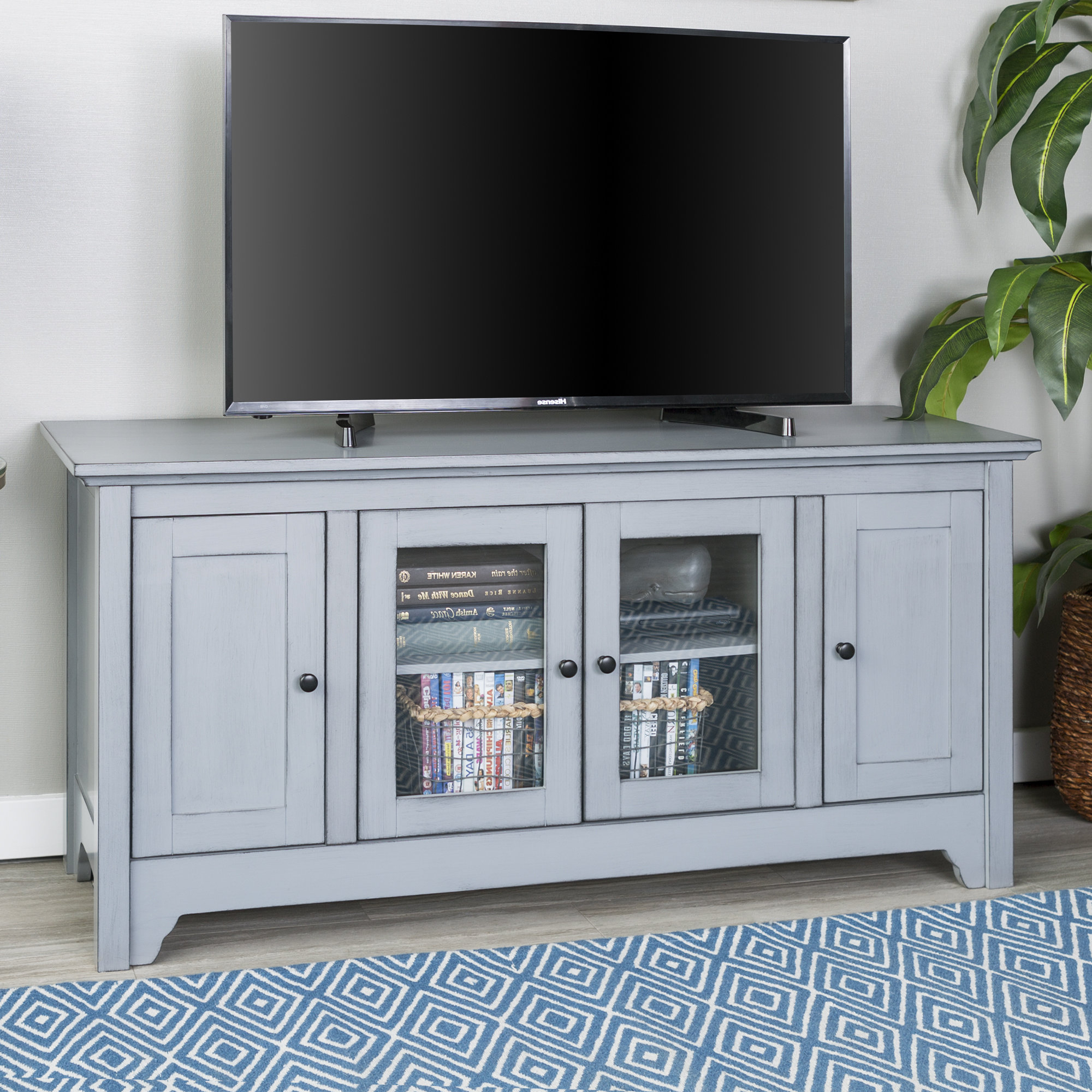 Sinclair Grey 64 Inch Tv Stands With Regard To Fashionable Grey Tv Stands (View 13 of 20)