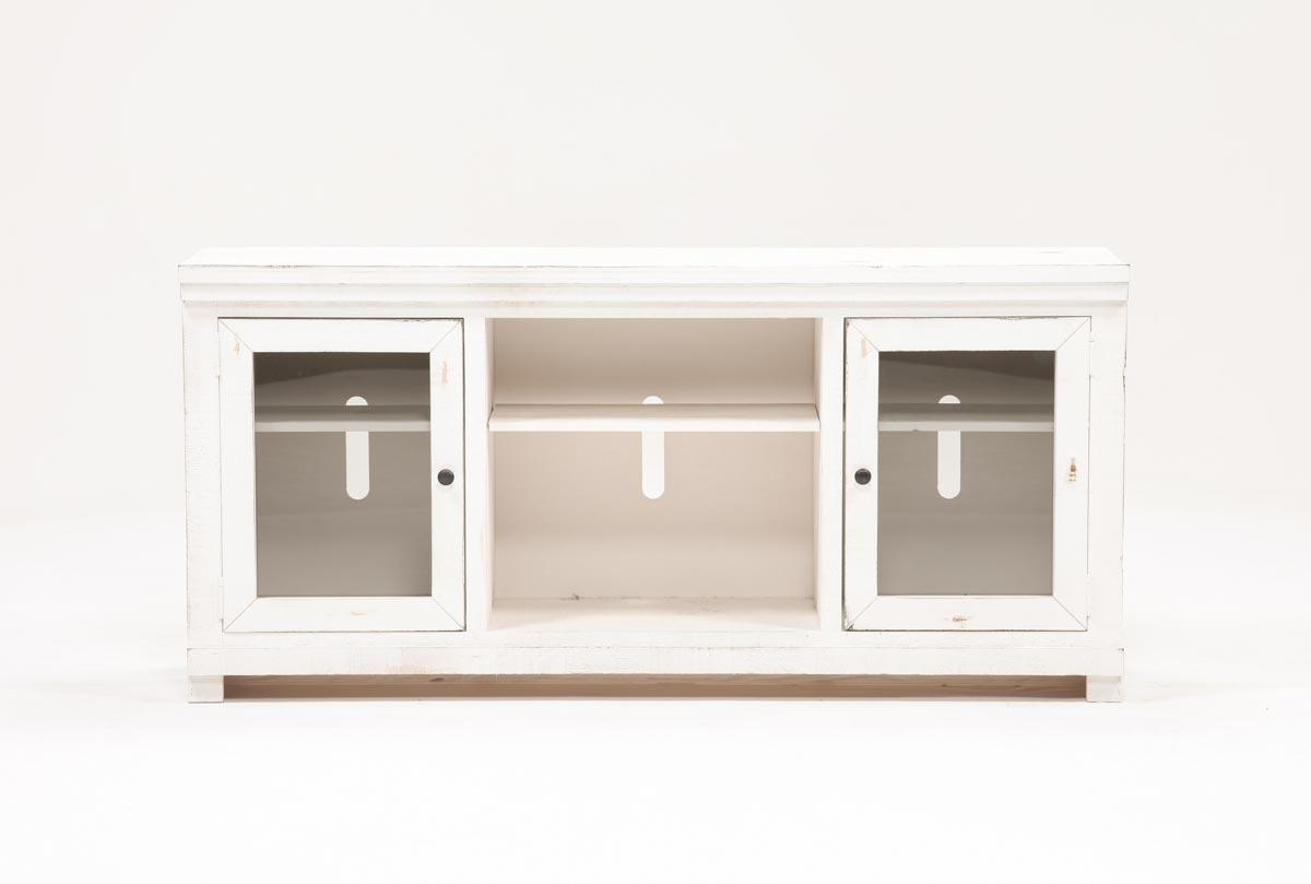 Sinclair Grey 68 Inch Tv Stands Pertaining To Famous Sinclair White 68 Inch Tv Stand (View 6 of 20)
