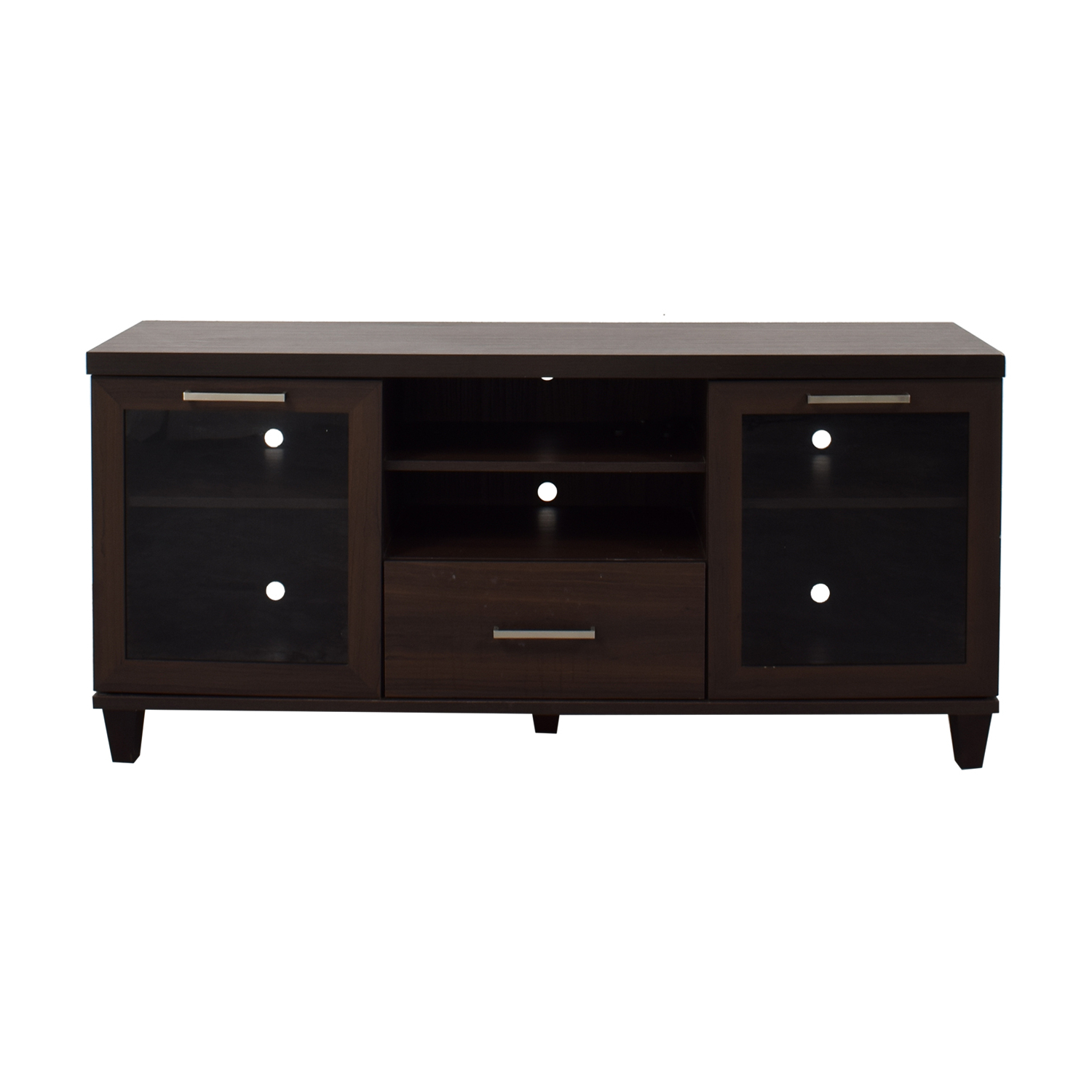 Single Drawer Wood Tv Stand With Side Cabinets In 2018 Single Tv Stands (View 11 of 20)