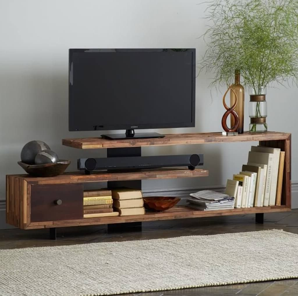 Single Shelf Tv Stands With Latest Furniture: Modern Tv Stands For Minimalist Living Room – Sleek (View 18 of 20)