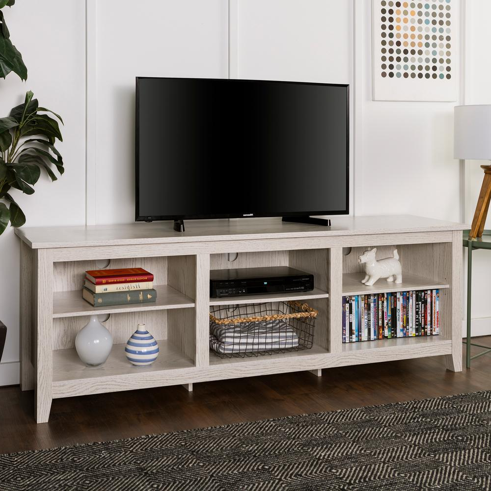 Single Shelf Tv Stands With Regard To Latest Walker Edison Furniture Company 70 In (View 14 of 20)