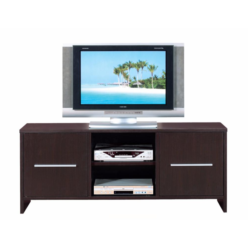 Sleek Tv Stands Within Preferred Sleek And Wide Tv Stand With Two Cabinets, Brown (Gallery 8 of 20)