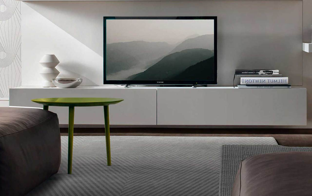 Slim Line Tv Stands In Well Known Floating Tv Units (Gallery 8 of 20)