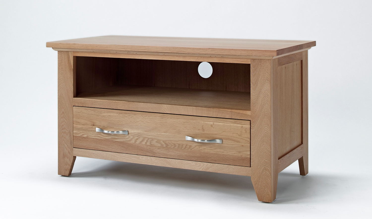 Small Oak Corner Tv Stands For Widely Used Sherwood Oak Small Tv Unit – Be Home Furniture (View 9 of 20)