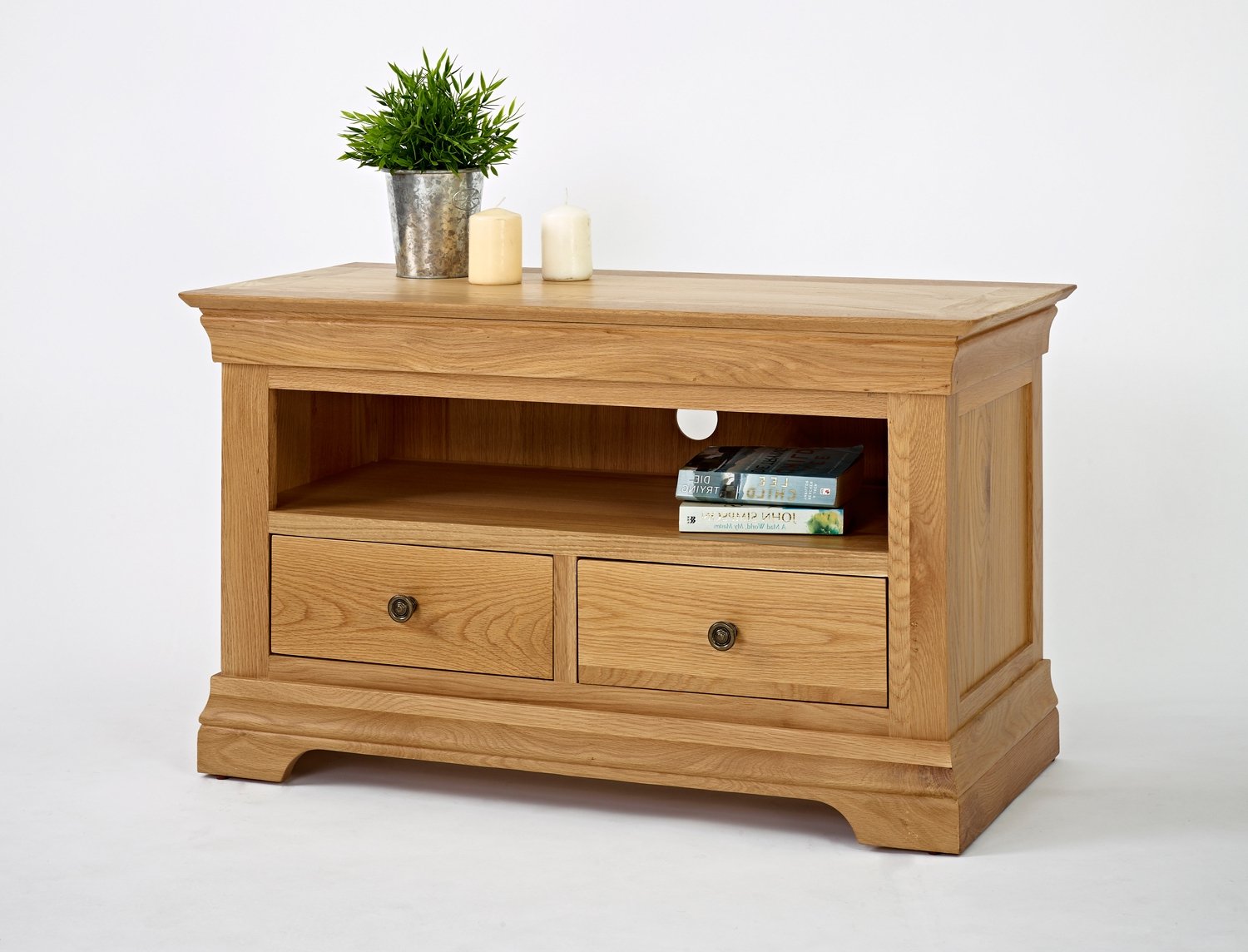 Small Oak Tv Cabinets With Regard To Most Recent Bordeaux Oak Small Tv Unit – Be Home Furniture (View 13 of 20)