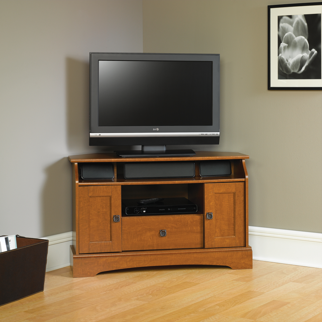 Small Tv Cabinets Pertaining To Most Recently Released Small Tv Stand Big Stands For Tvs Tall Wood Corner Cabinet With (View 15 of 20)