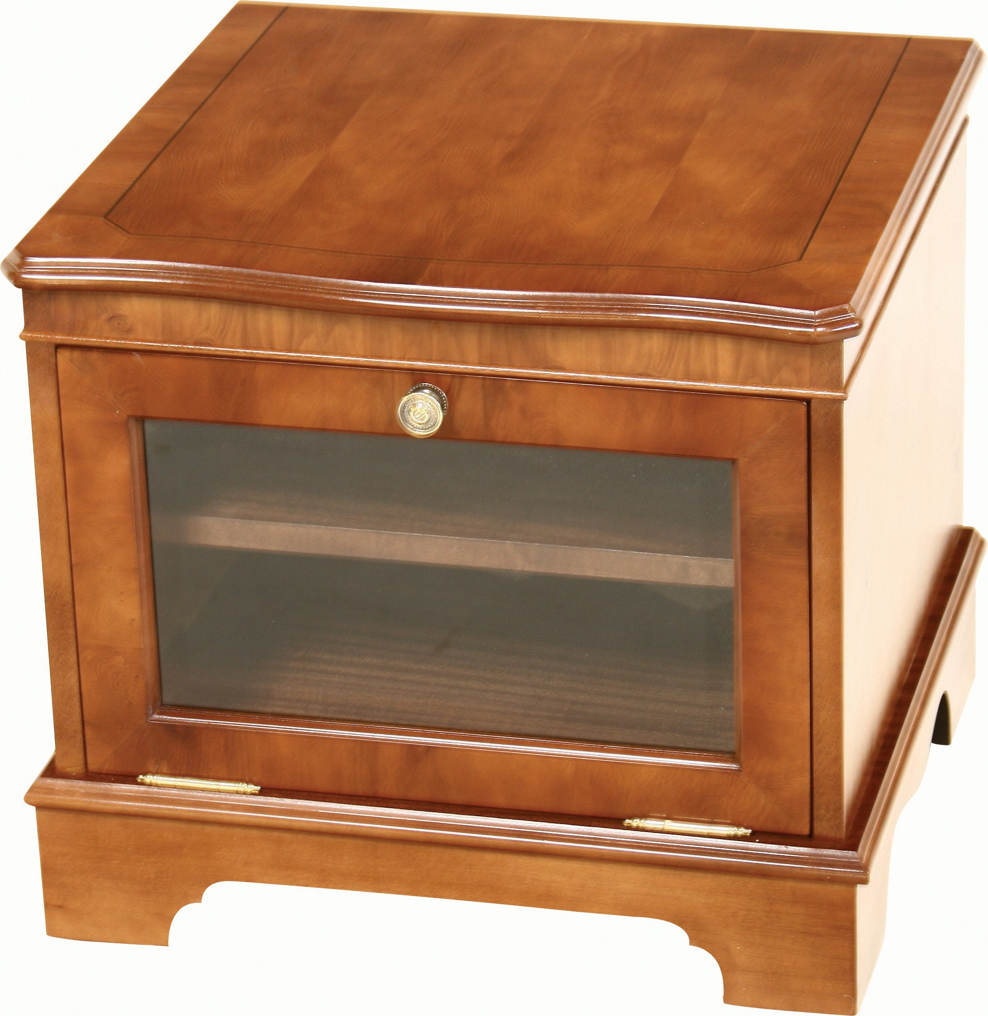 Small Tv Stand Glass – Tv Stands And Cabinets With Well Known Oak Tv Stands With Glass Doors (View 8 of 20)