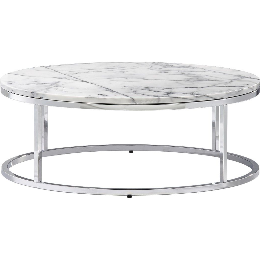 Smart Round Marble Top Coffee Table (Gallery 19 of 20)