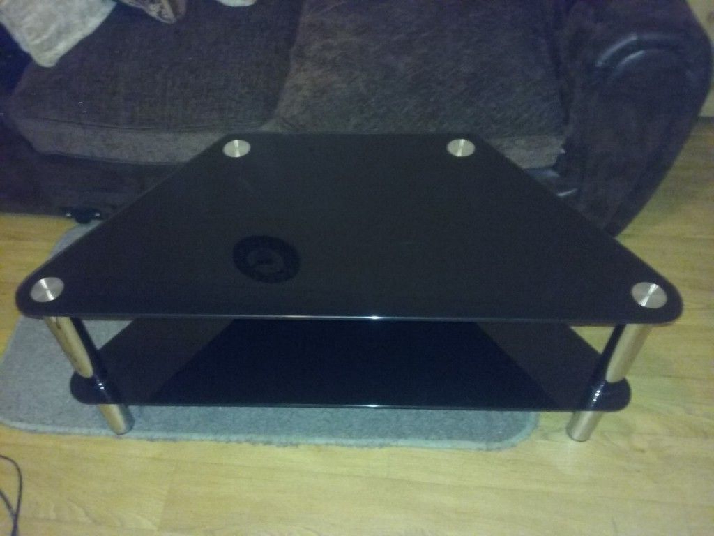 Smoked Glass Tv Stands In Most Current Black Smoked Glass T.v (View 16 of 20)