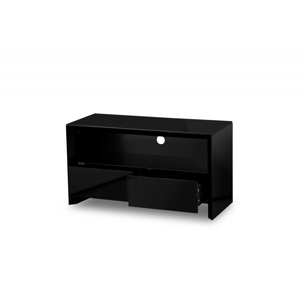 Soho Black High Gloss Tv Unit 100Cm – Gloss Furniture With Regard To Fashionable Black Gloss Tv Cabinets (Gallery 7 of 20)