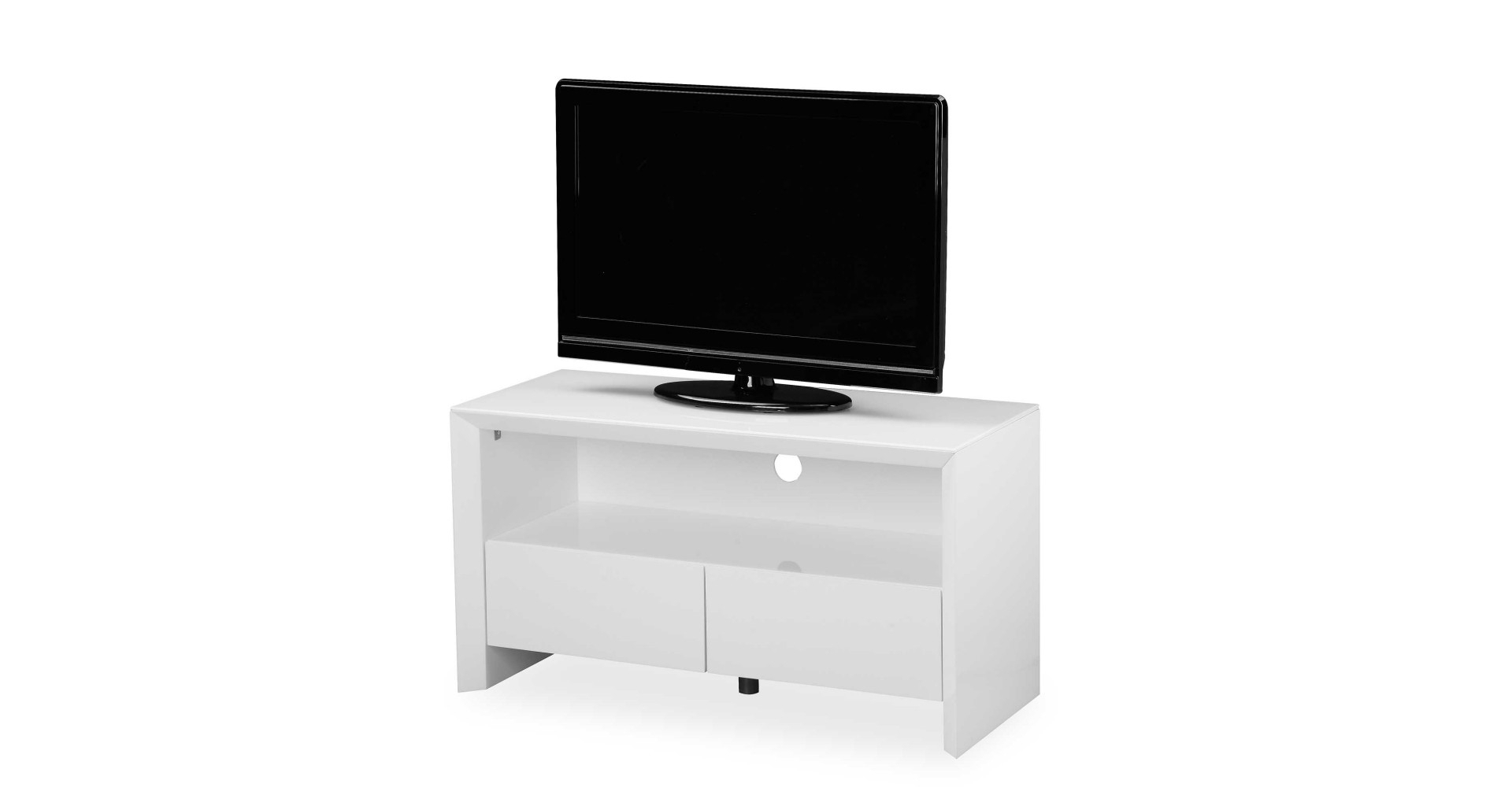 Soho – Small Tv Unit – White High Gloss Within Current Tv Unit 100cm (View 17 of 20)