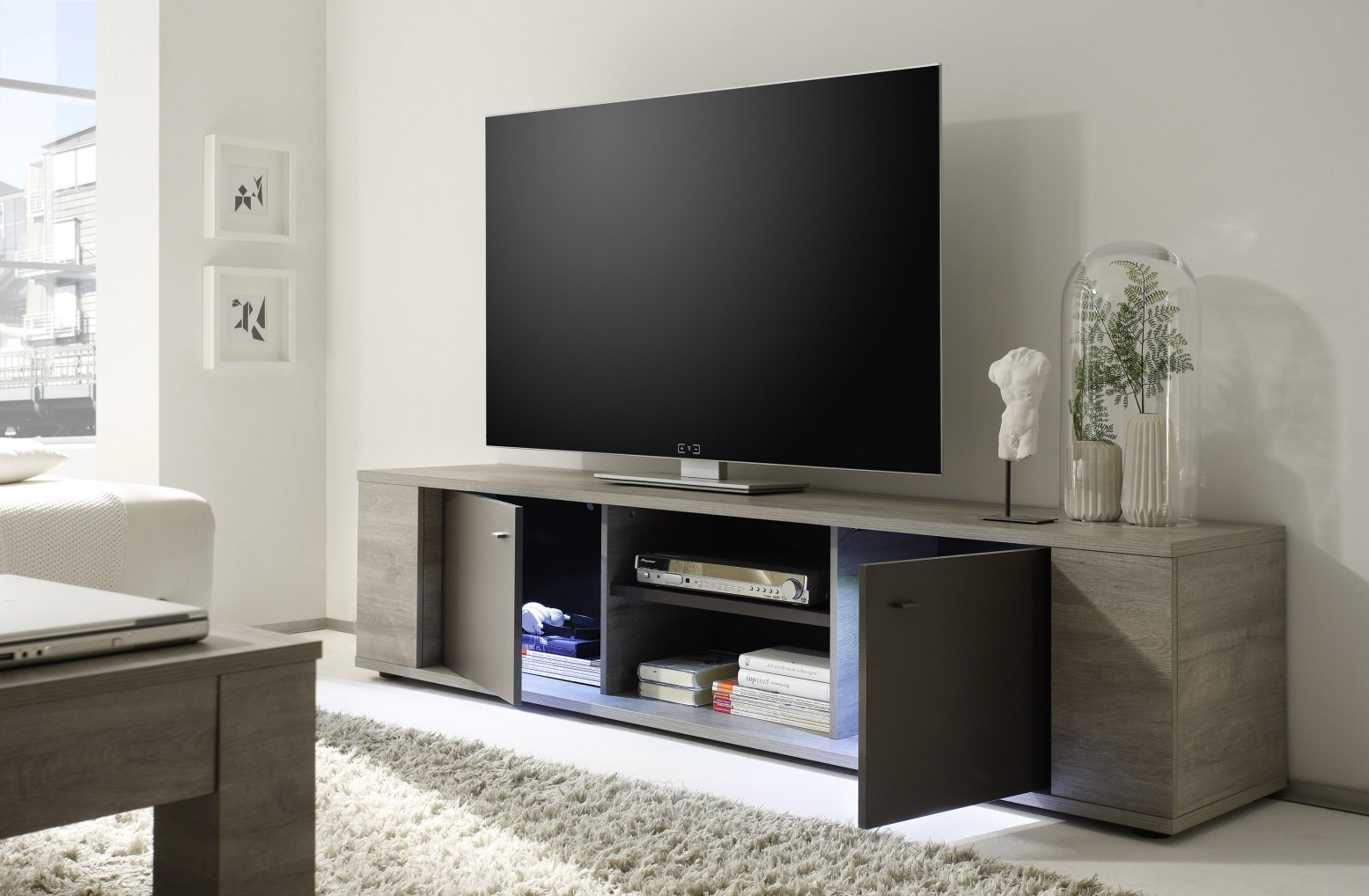 Sohomod With Trendy Big Tv Stands Furniture (Gallery 12 of 20)