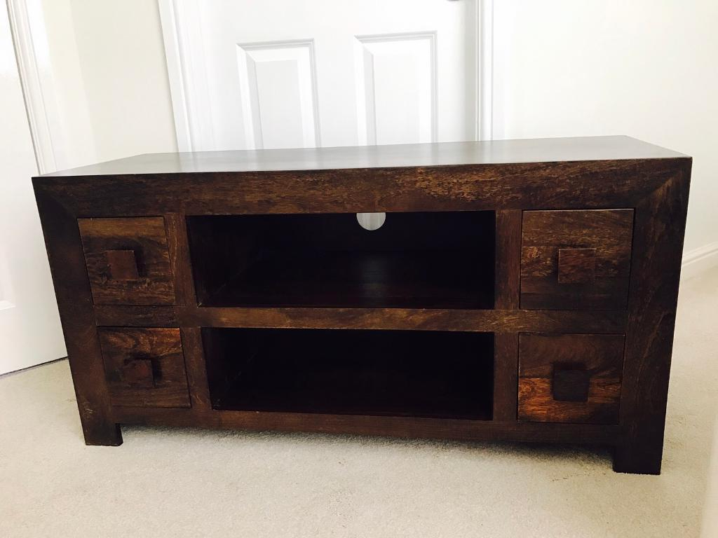 Solid Mango Wood Tv Stand (Gallery 10 of 20)