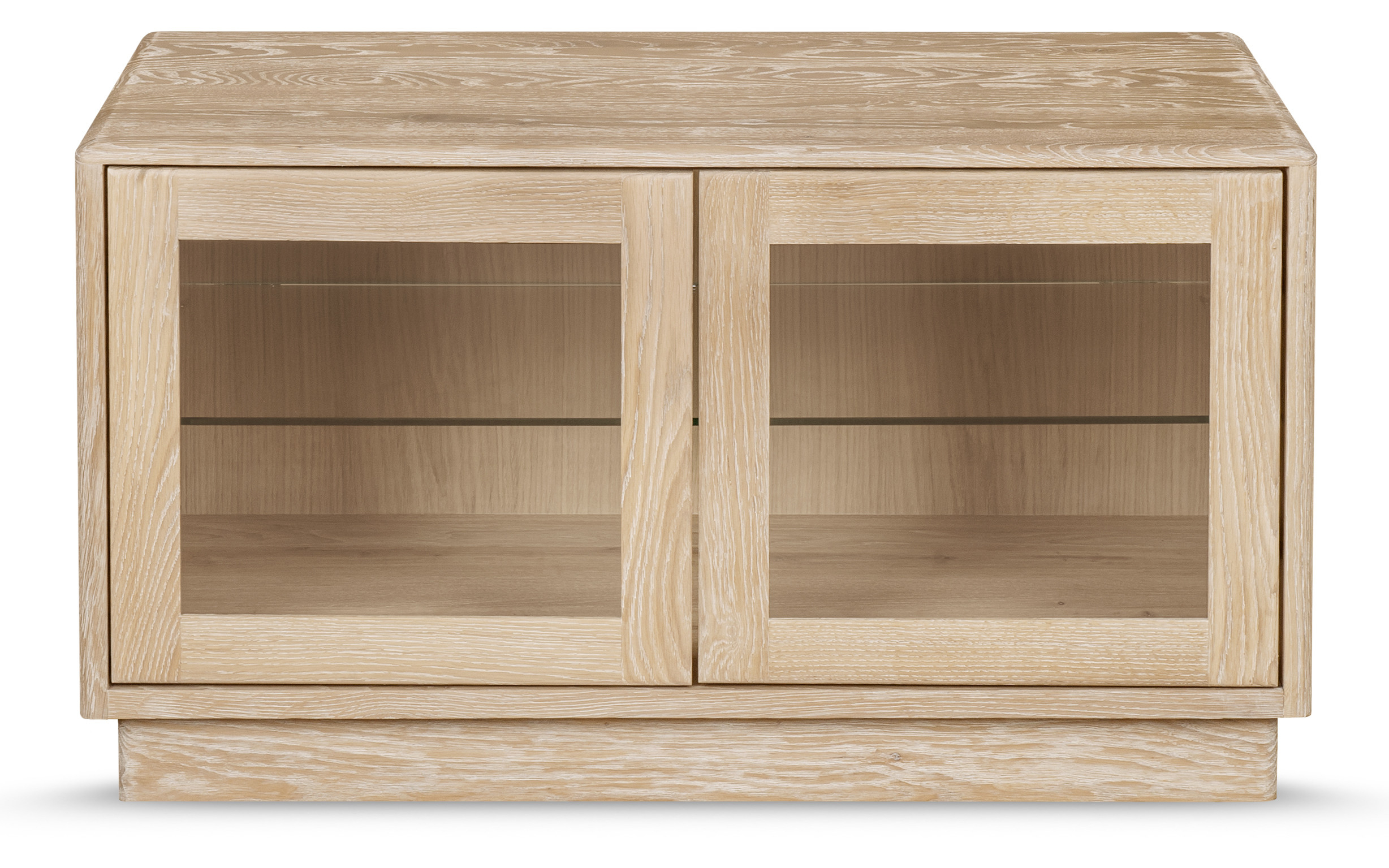 Solid Oak For Tv Cabinets With Glass Doors (View 3 of 20)