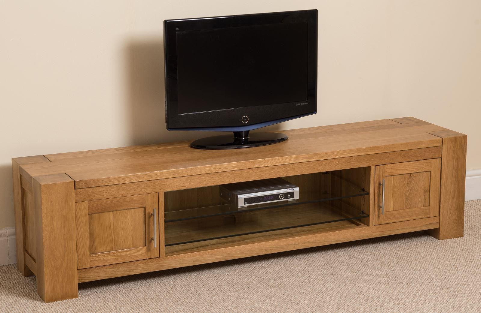 Solid Oak Tv Stands For Fashionable Kuba Solid Widescreen Tv Cabinet (View 6 of 20)